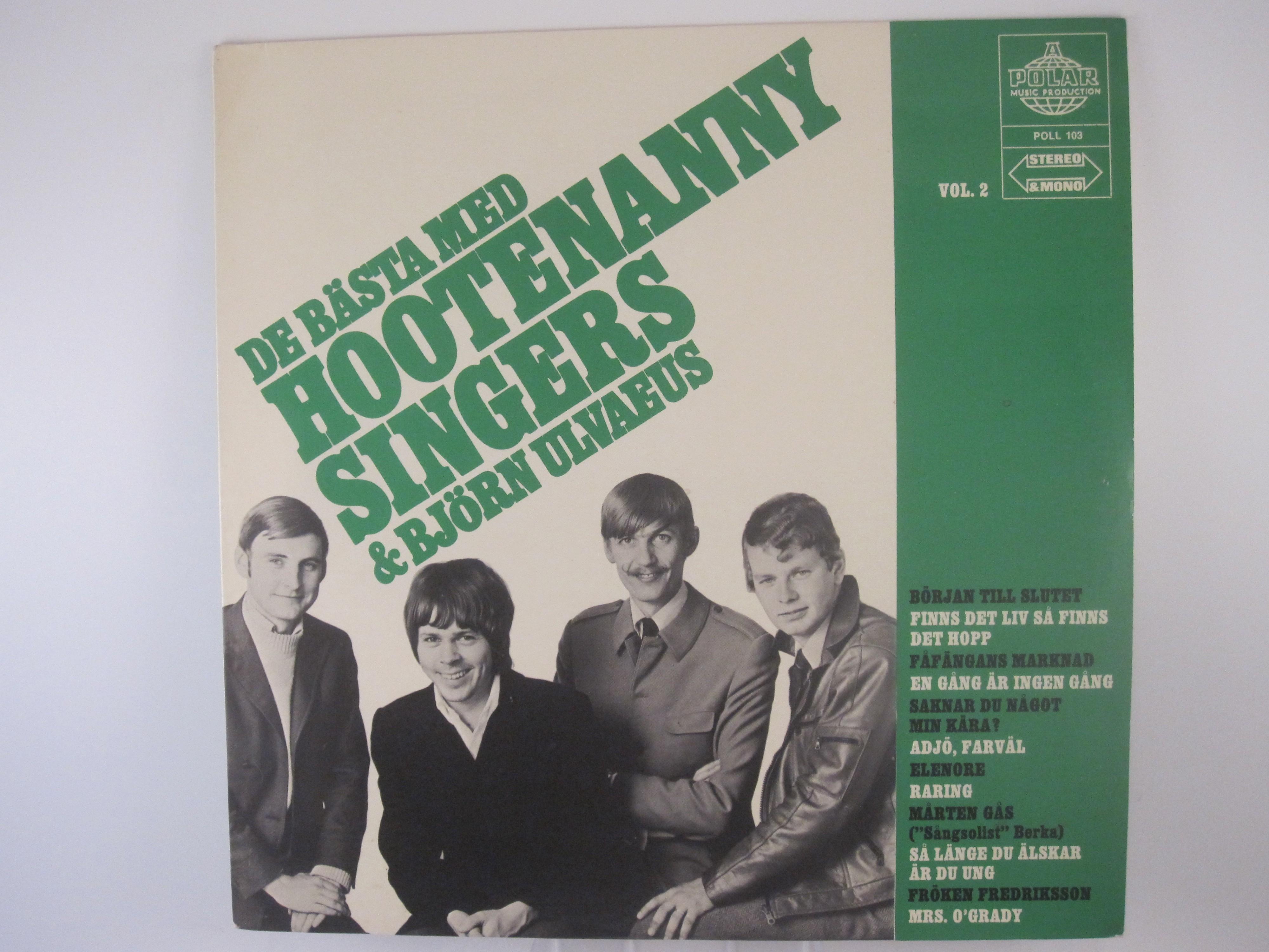 """HOOTENANNY SINGERS : """"De bästa med Hootananny Singers Vol. 2"""""""