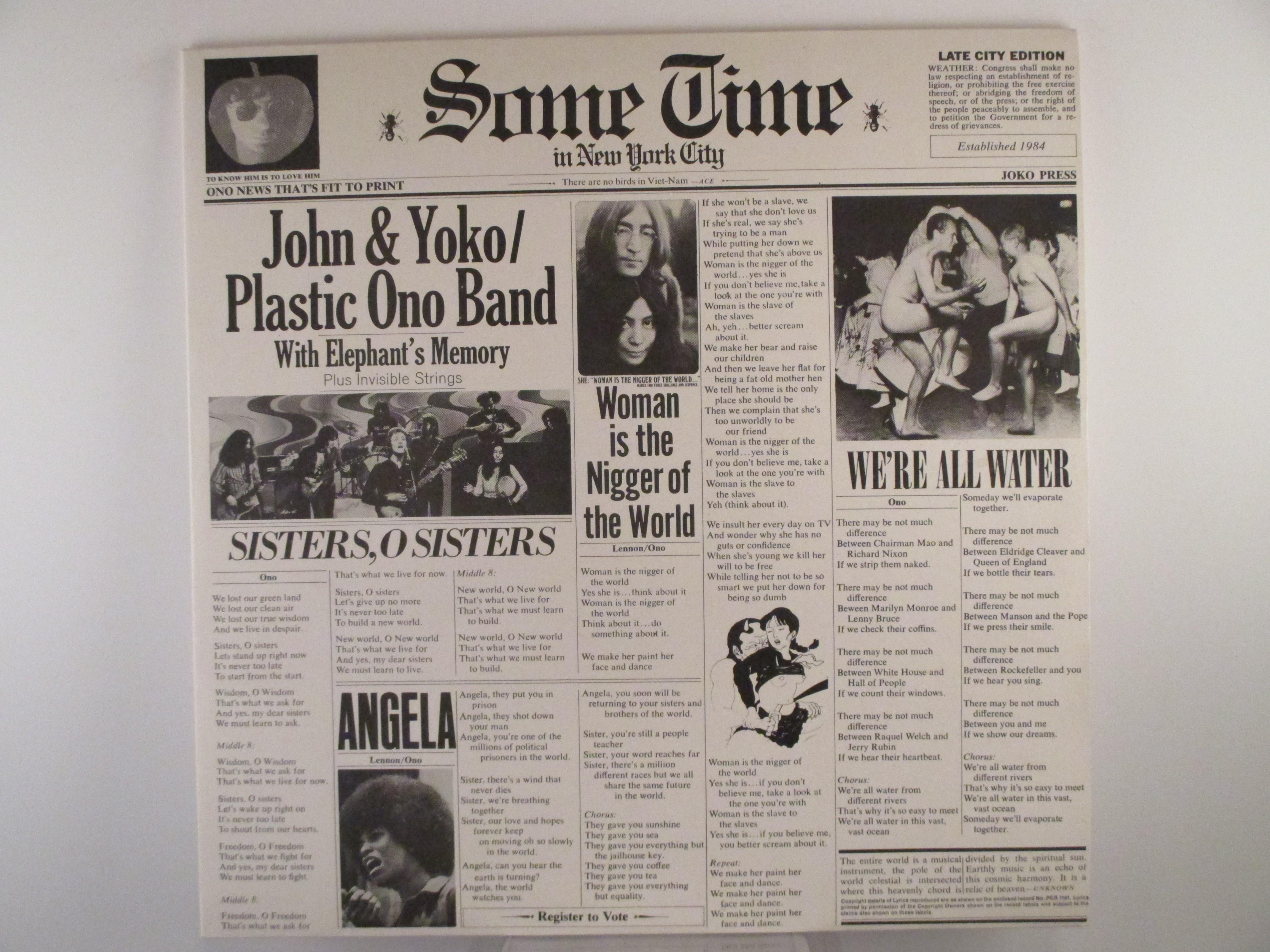 """JOHN LENNON : """"Some time in New York City"""""""