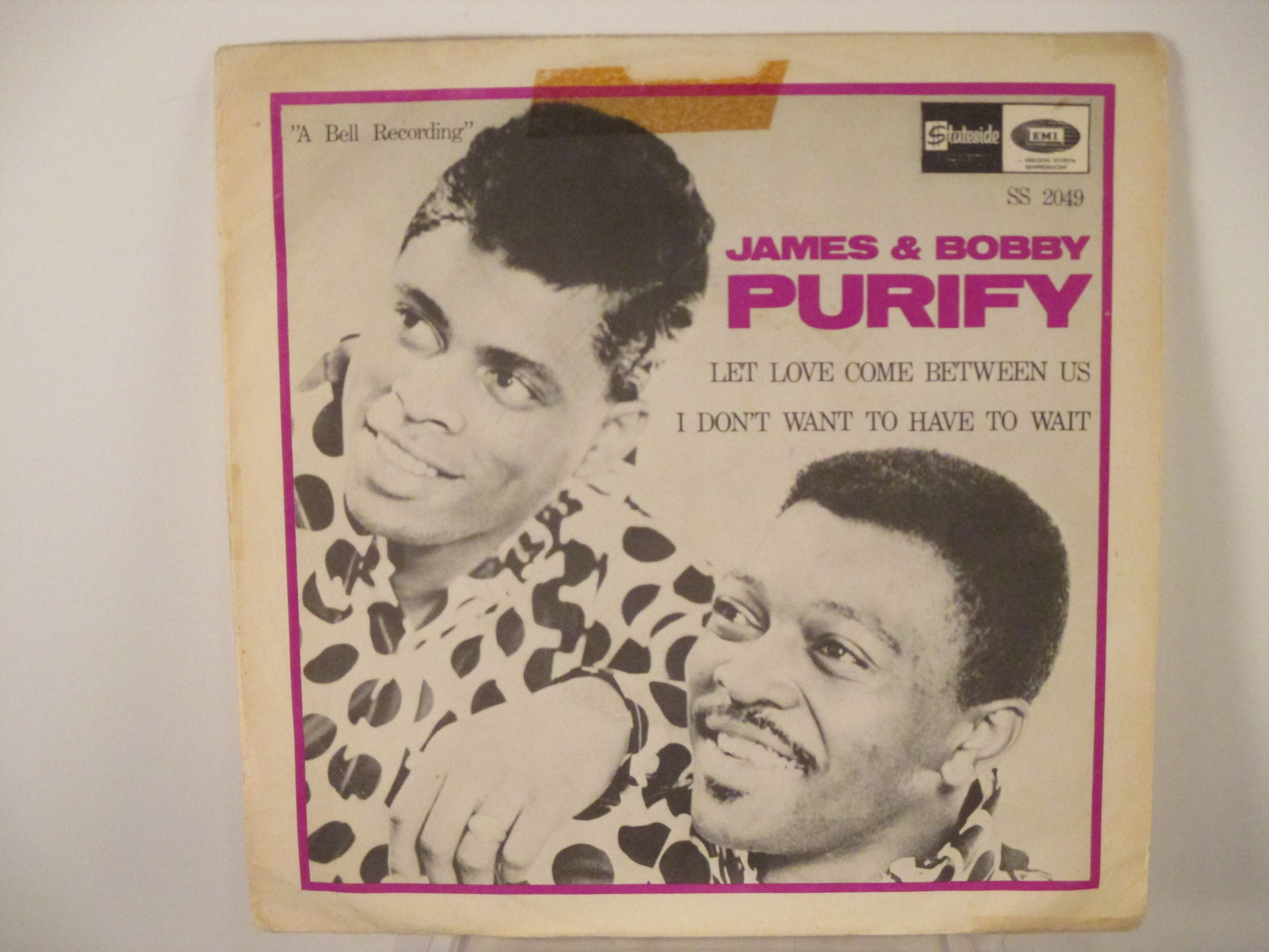 JAMES & BOBBY PURIFY : Let love come between us / I don't want to have to wait