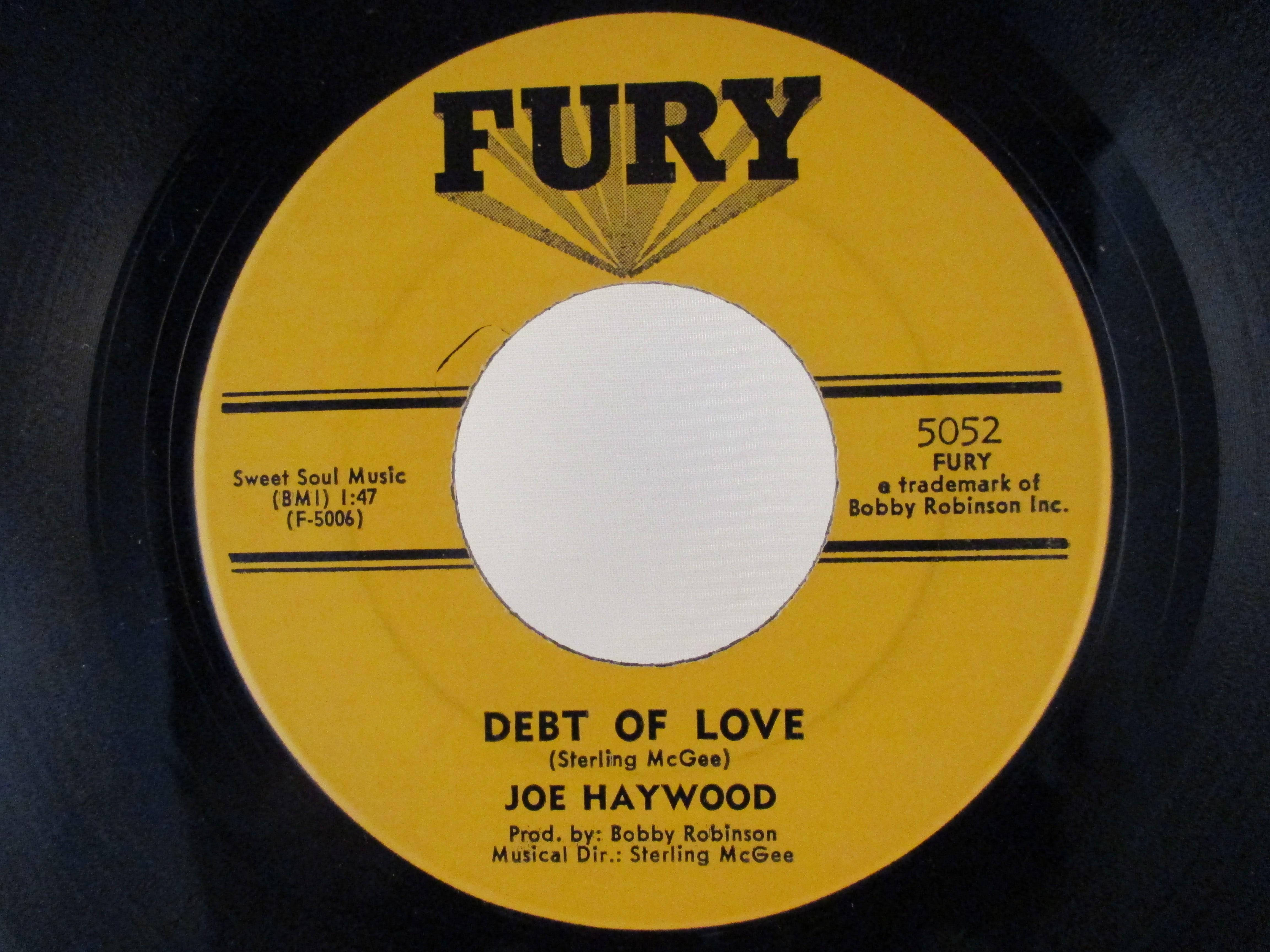 JOE HAYWOOD : Debt of love / Ghost of love