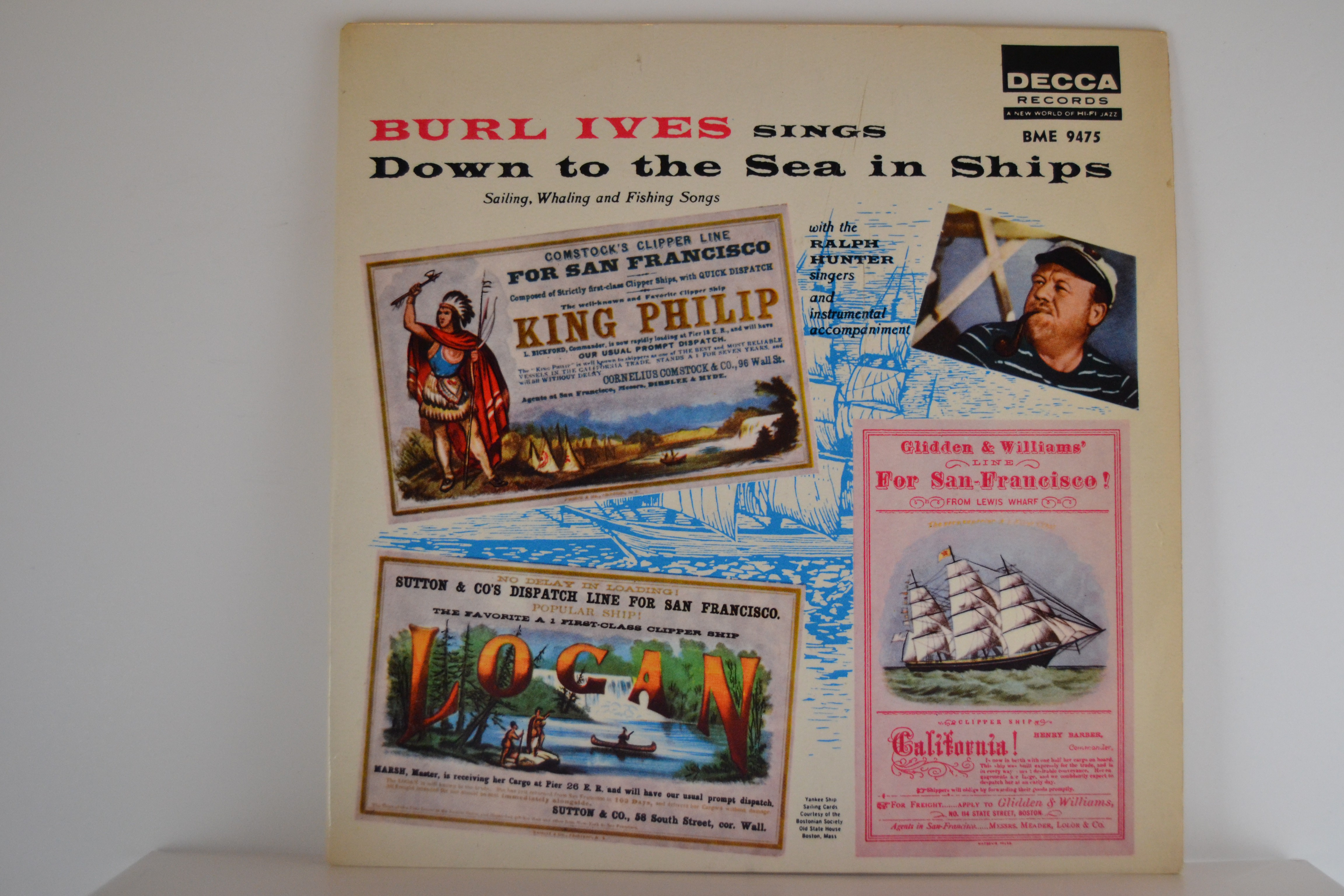BURL IVES : (EP) The drunken sailor / Rolling home / Jack was every inch a sailor / Blow ye winds!