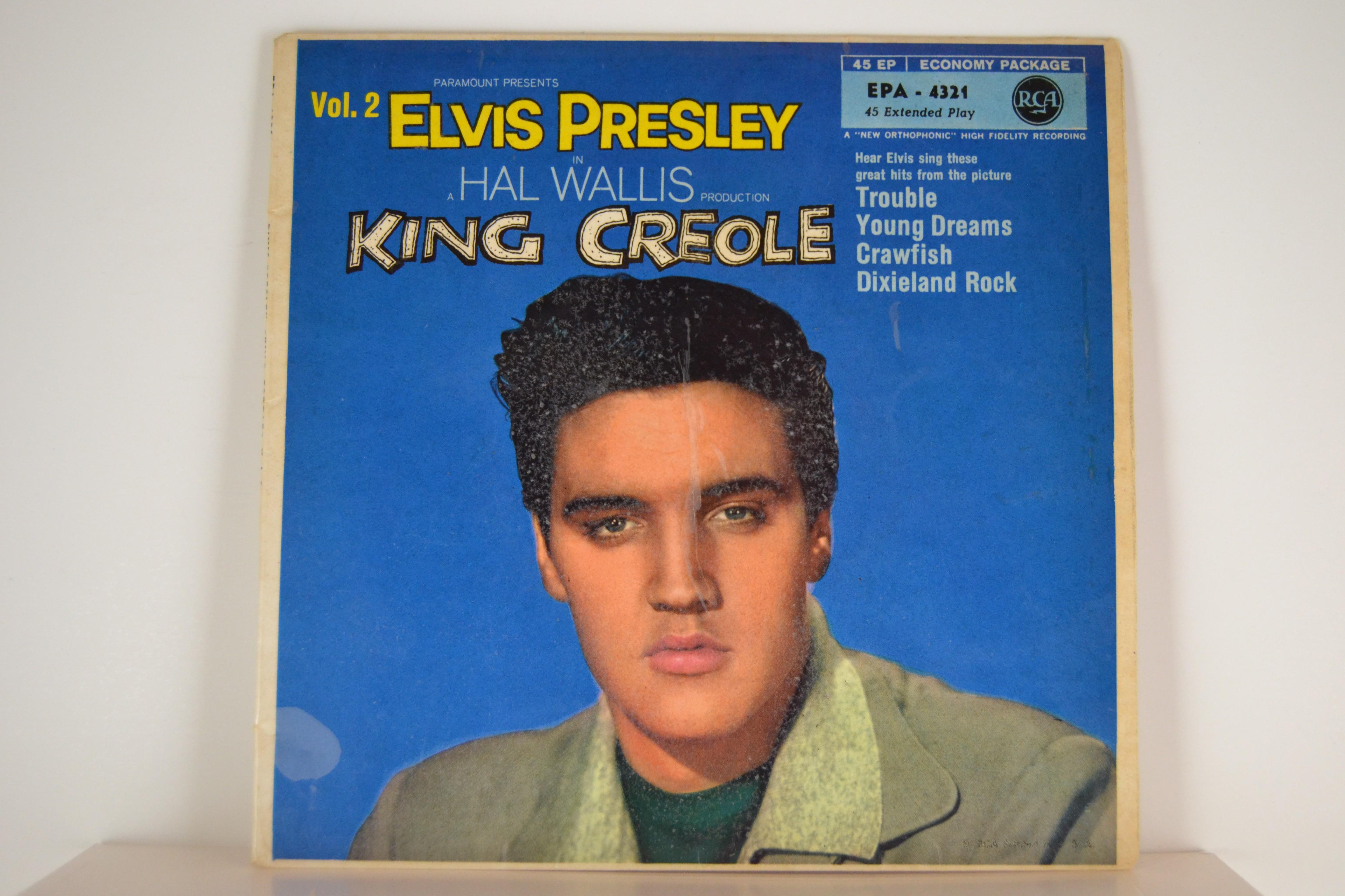 "ELVIS PRESLEY : (EP) ""King Creole Vol.2""  : Trouble / Young dreams / Crawfish / Dixieland rock"