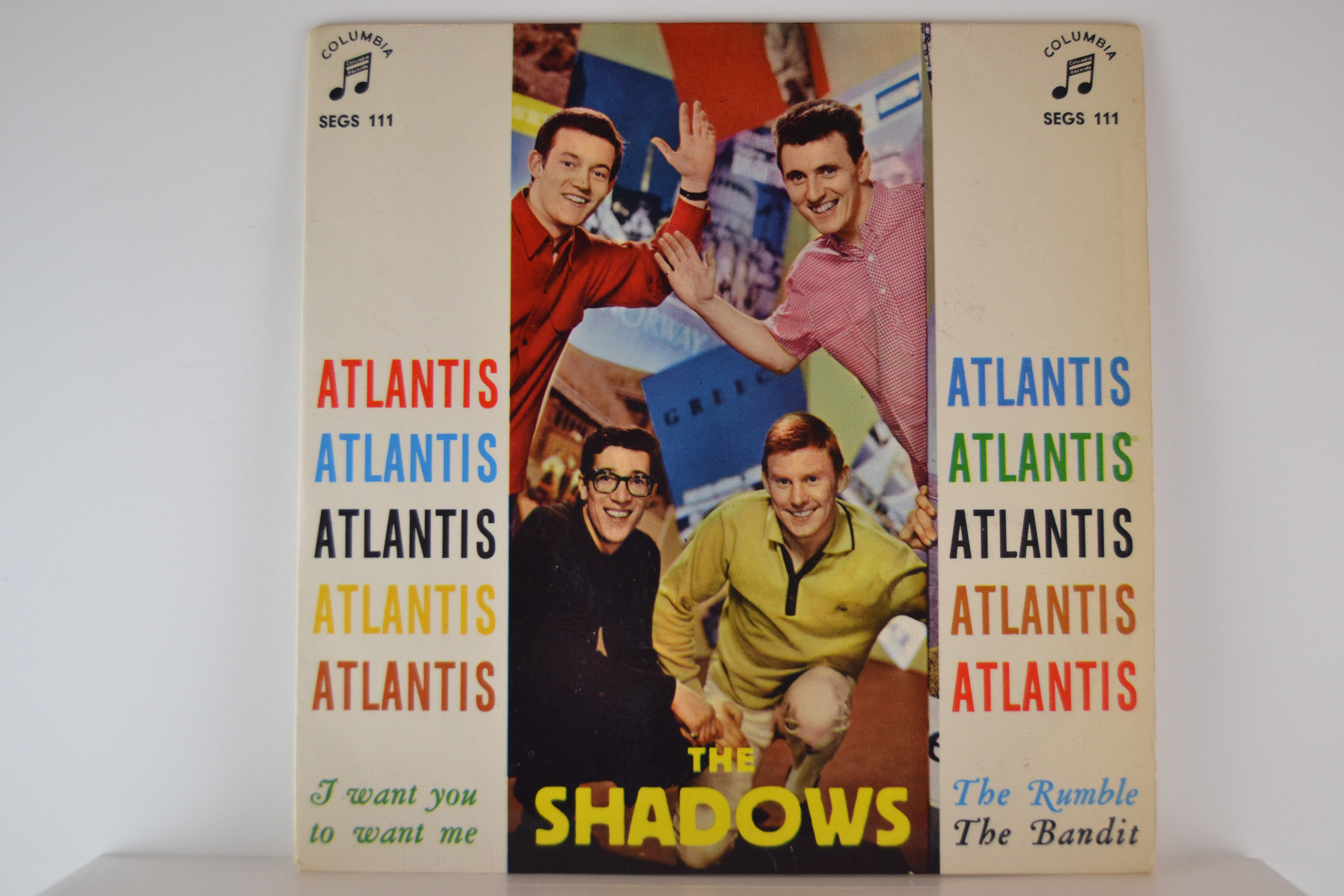 SHADOWS The : (EP) Atlantis / I want you to want me / The rumble / The bandit