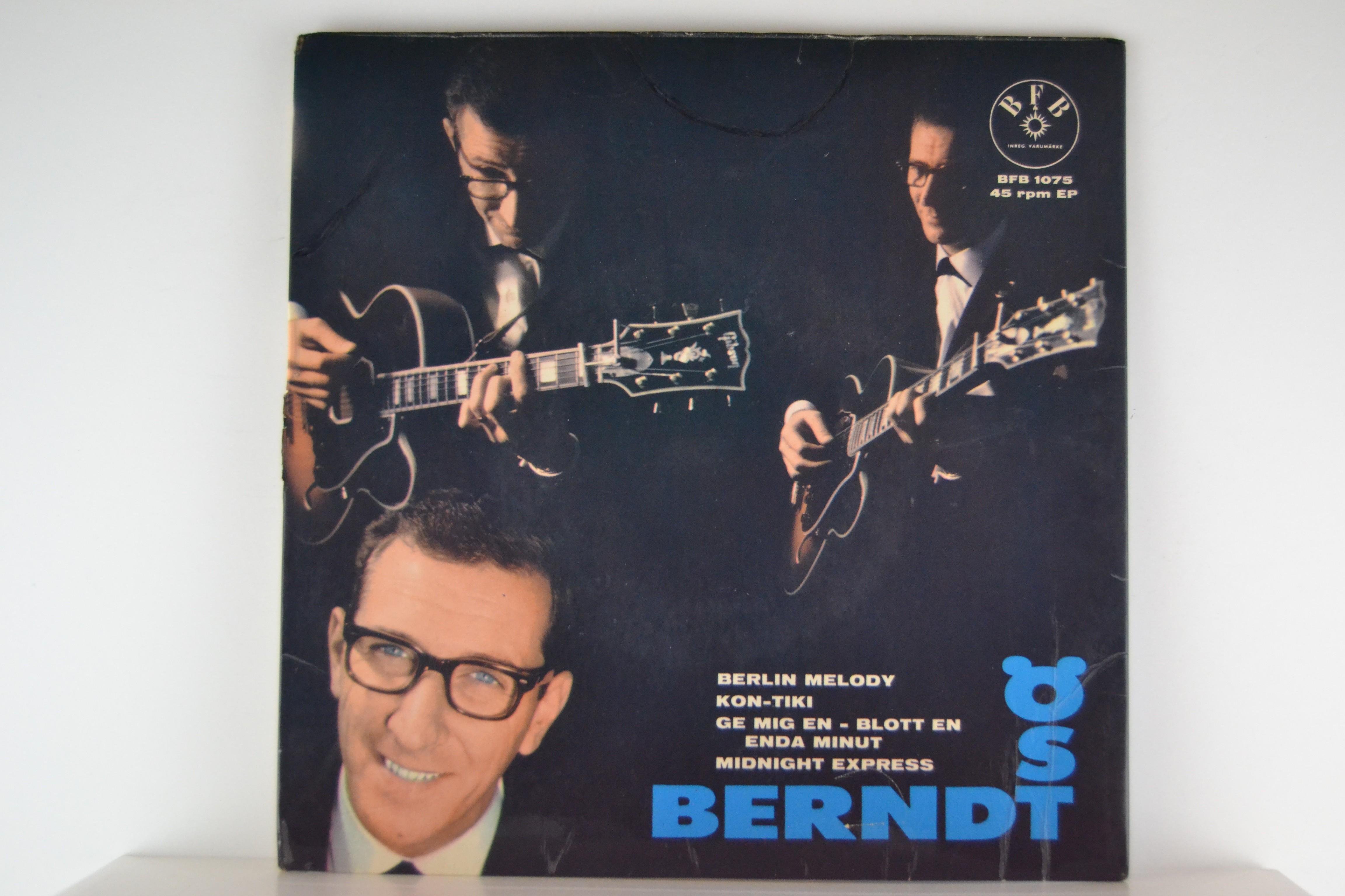BERNDT ÖST : (EP) Berlin melody / Kon-tiki / Ge mig en - blott en enda minut / Midnight express