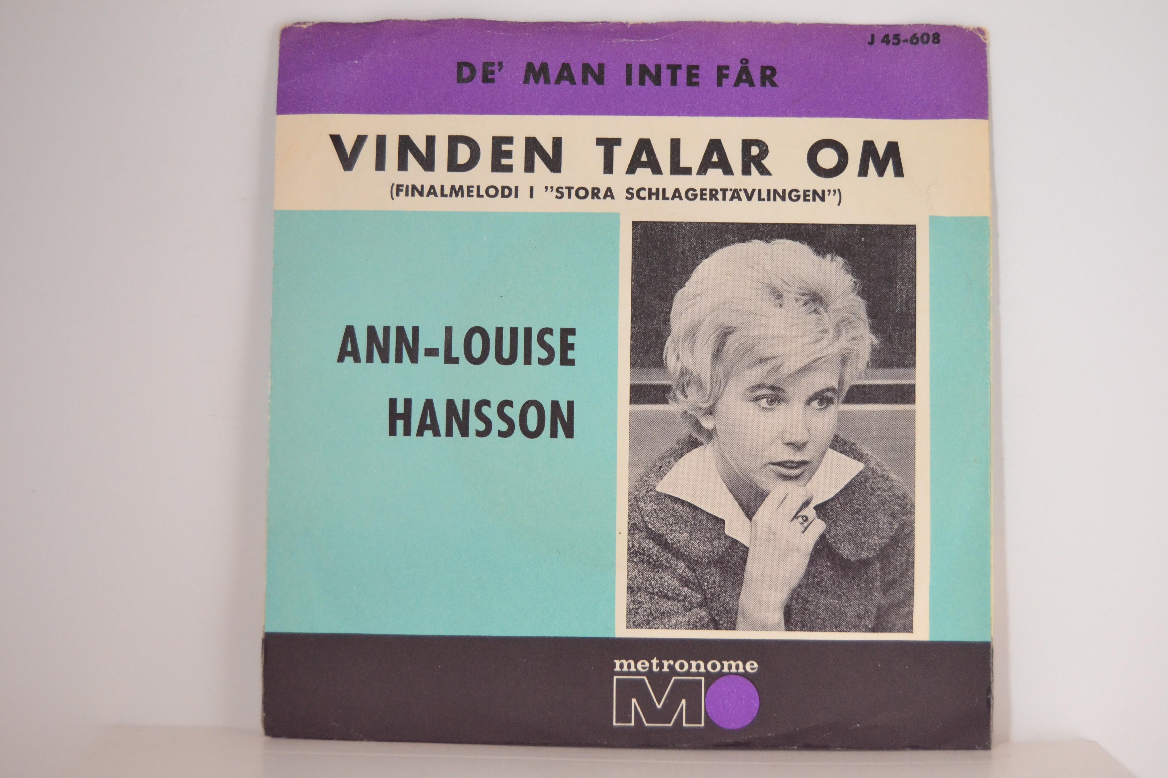 ANN-LOUISE HANSON : De' man inte får / Vinden talar om