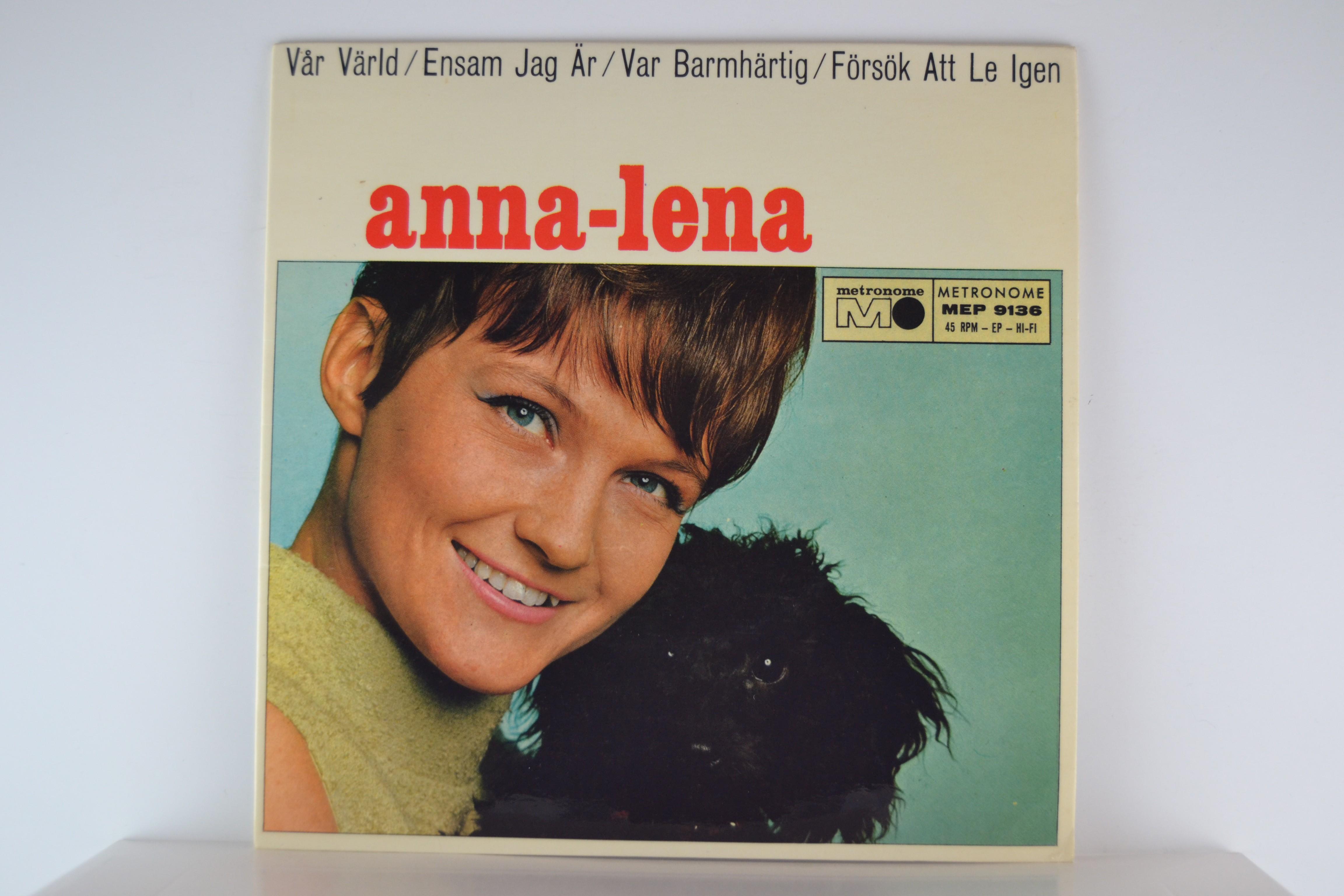 ANNA-LENA LÖFGREN : (EP) Vår värld / Ensam jag är / Var barmhärtig / Försök att le igen