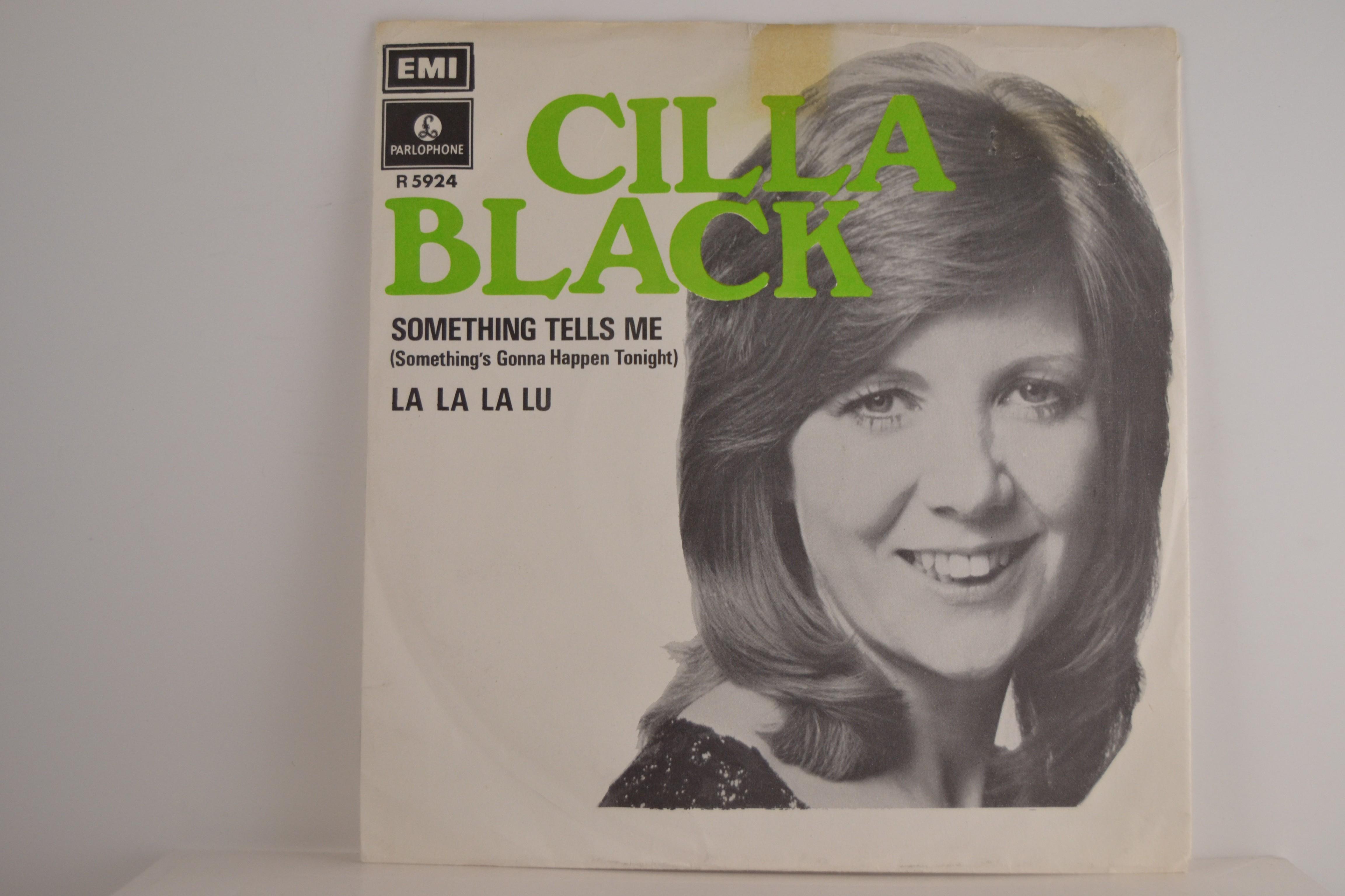 CILLA BLACK : Something tells me / La la la lu
