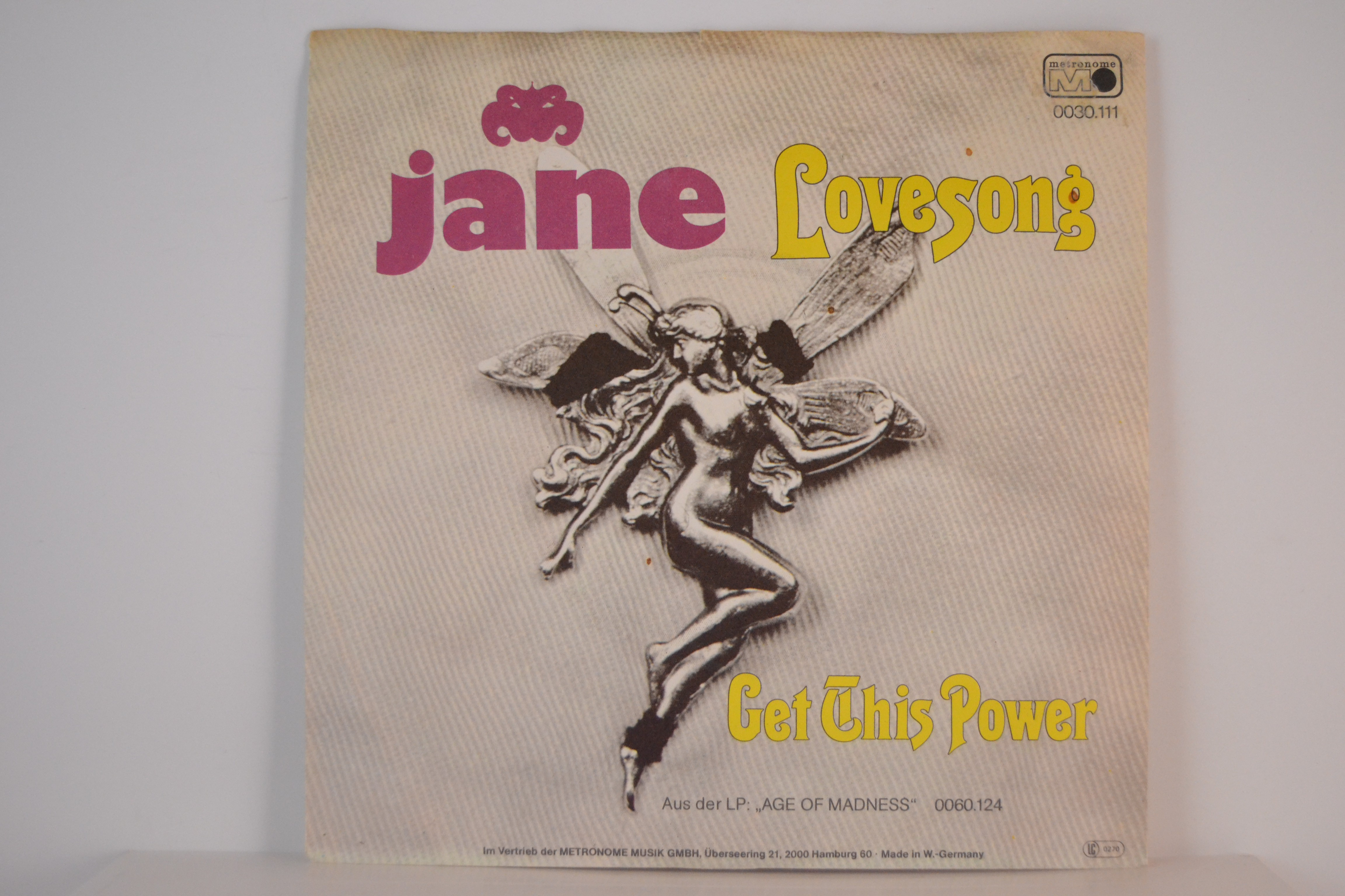 JANE : Get this power / Lovesong