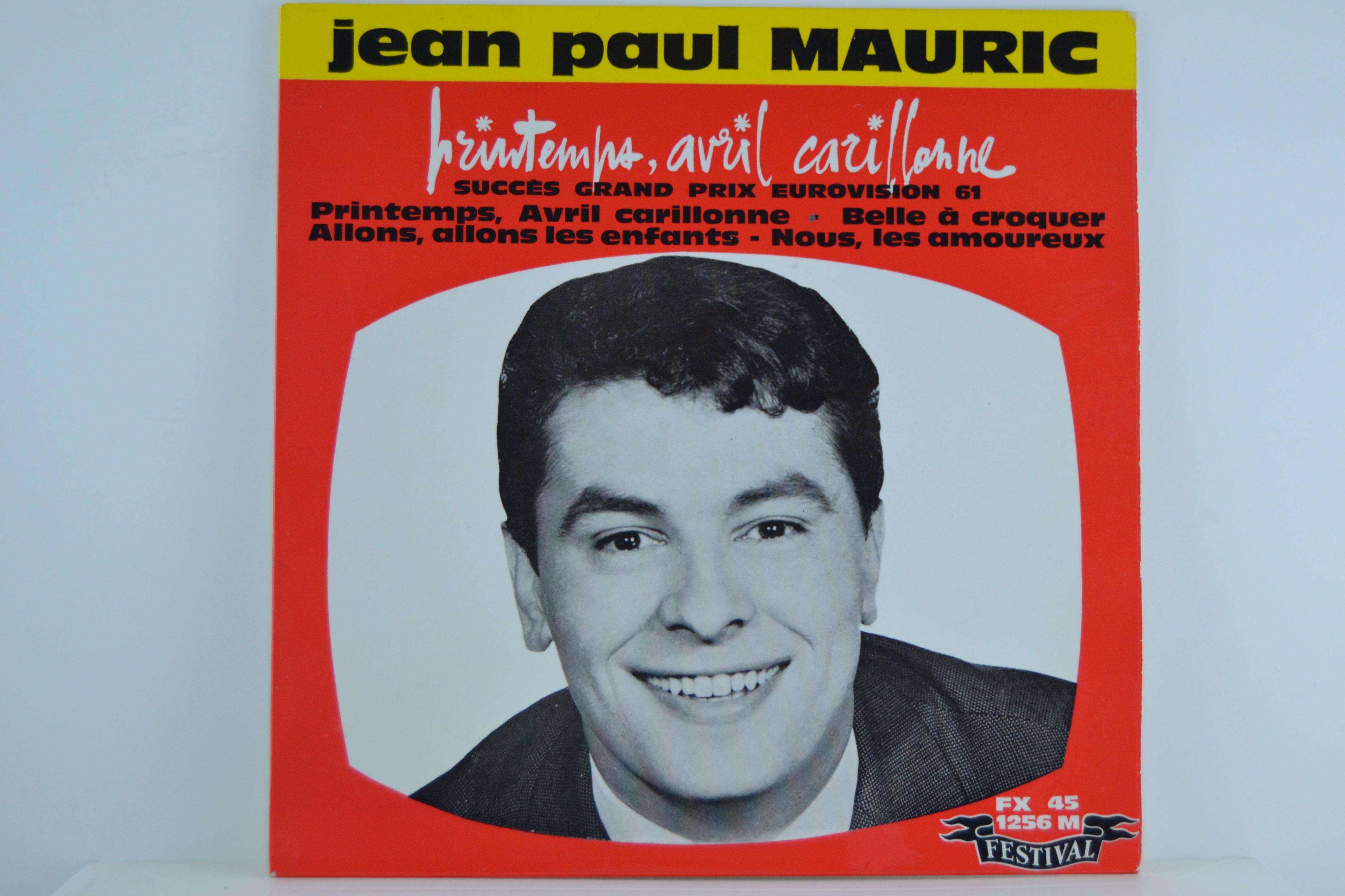 JEAN PAUL MAURIC : (EP) Printemps / Belle a croquer / Allons, allons les enfants / Nous les amoureux