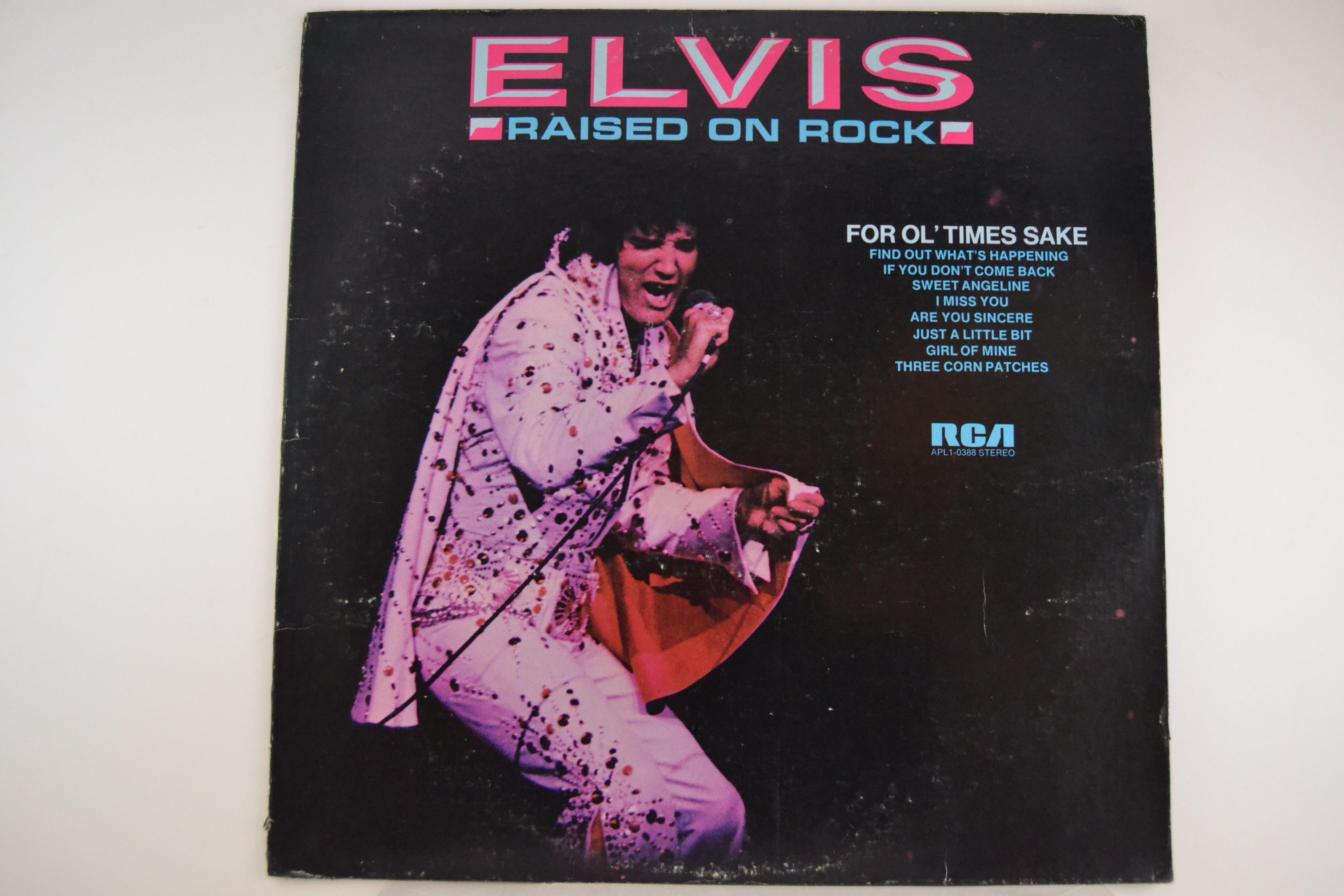 "ELVIS PRESLEY : ""Raised on Rock / For ol' times sake"""