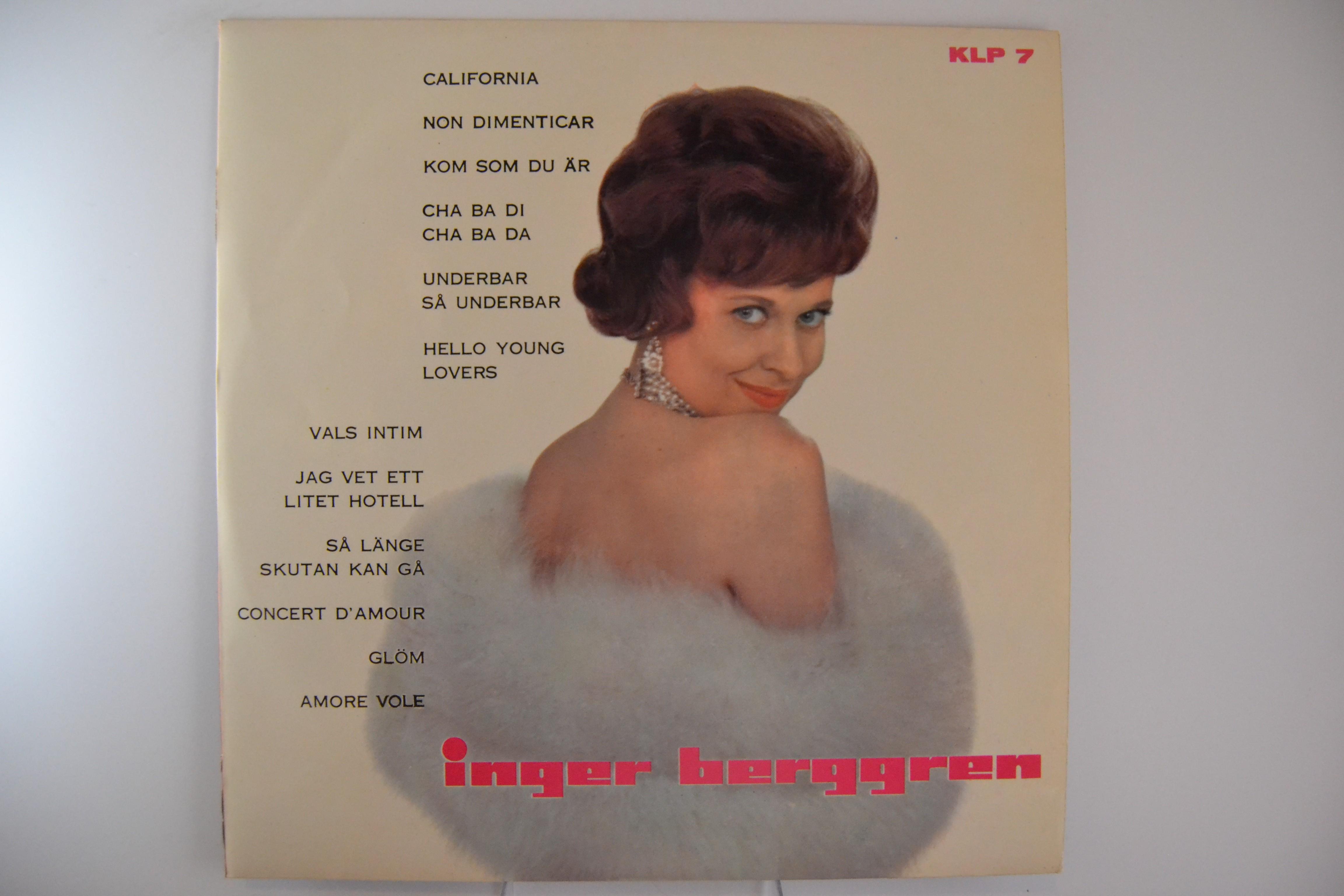 """INGER BERGGREN : """"Inger Berggren"""""""