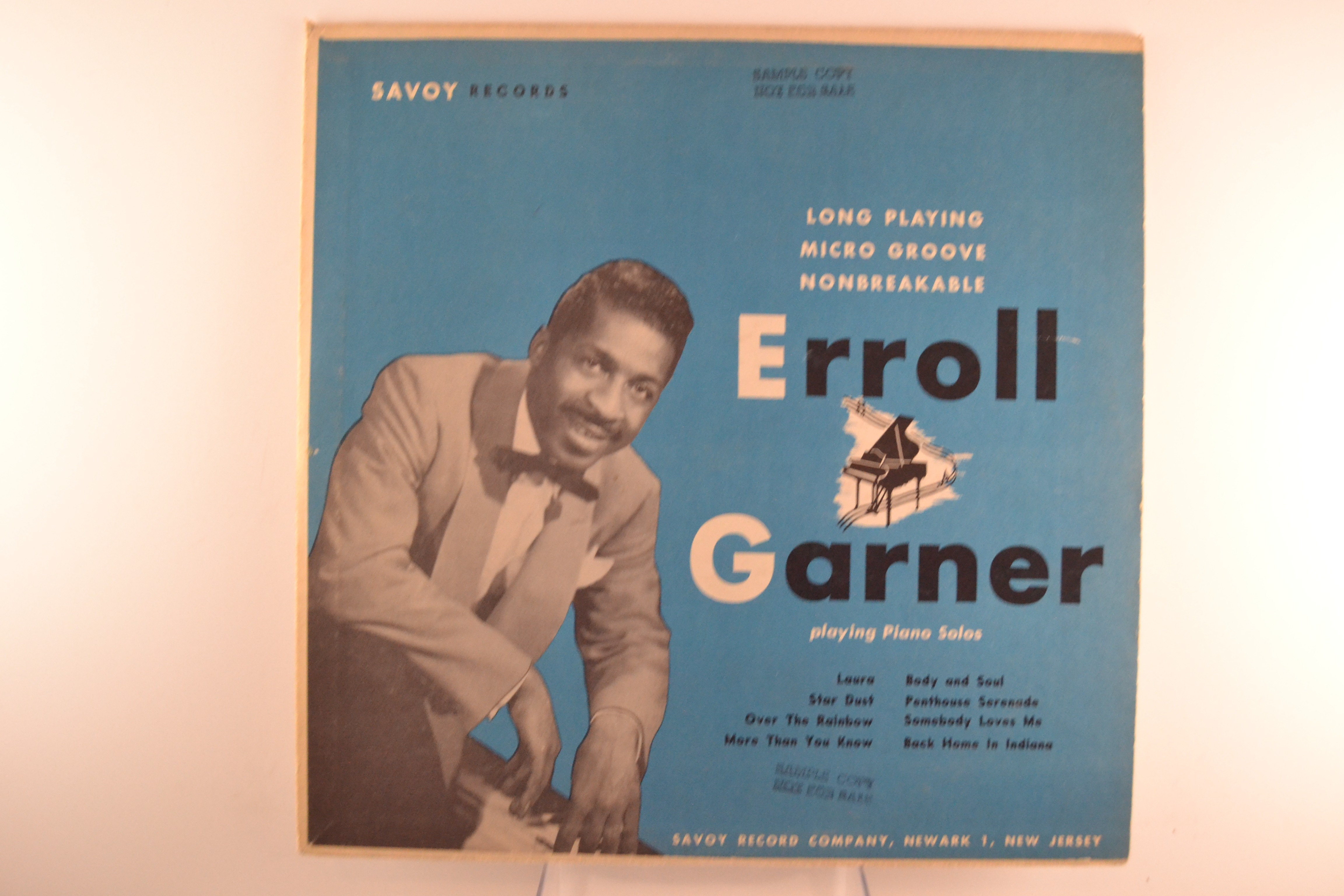 "ERROLL GARNER : ""Errol Garner playing piano solos Vol. 2"""