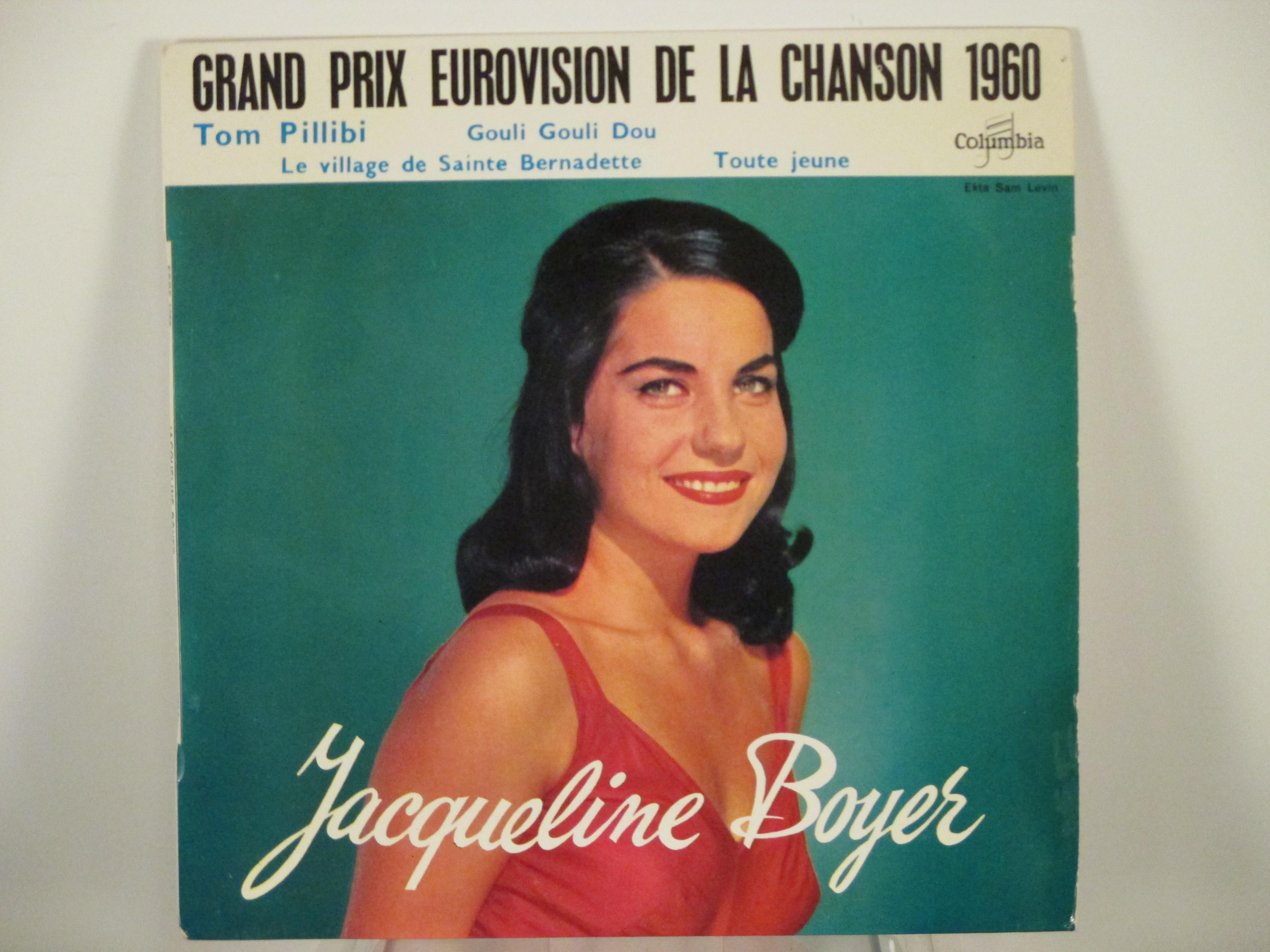 JACQUELINE BOYER : (EP) Tom Pillibi / Gouli gouli dou / Le village de Saint Bernadette / Toute jeune