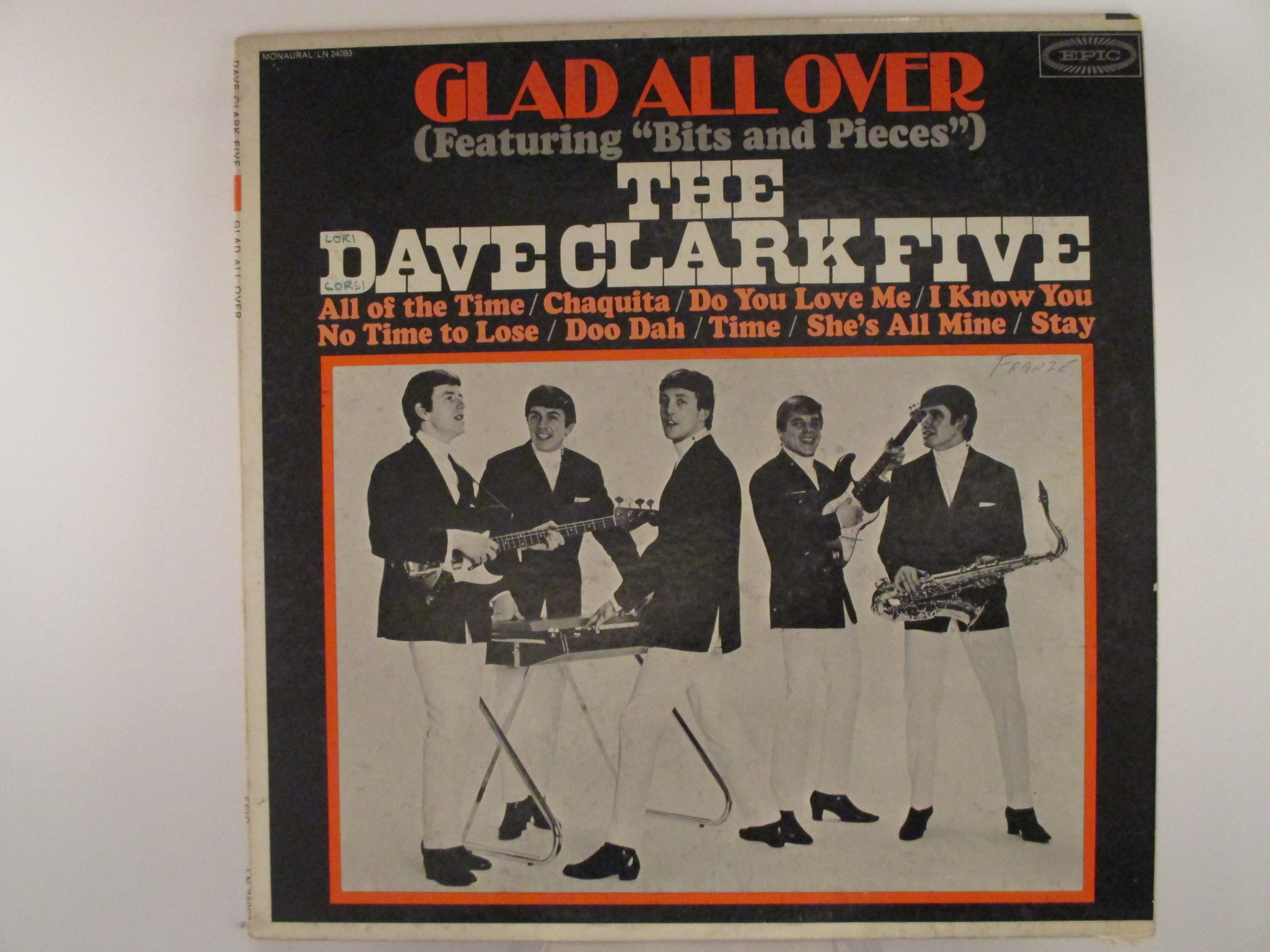 """DAVE CLARK FIVE : """"Glad all over"""""""