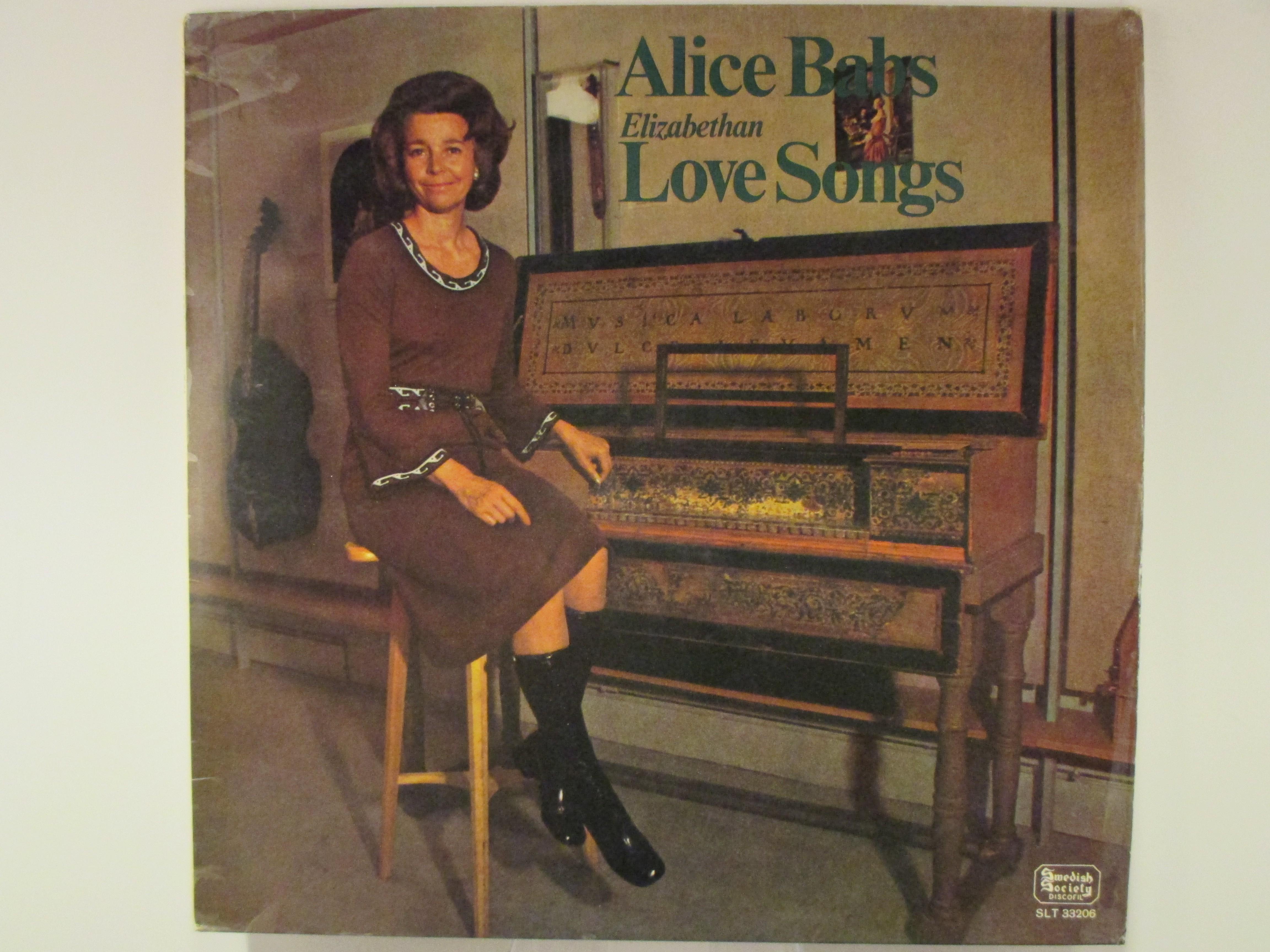 "ALICE BABS : ""Elizabethan love songs"""