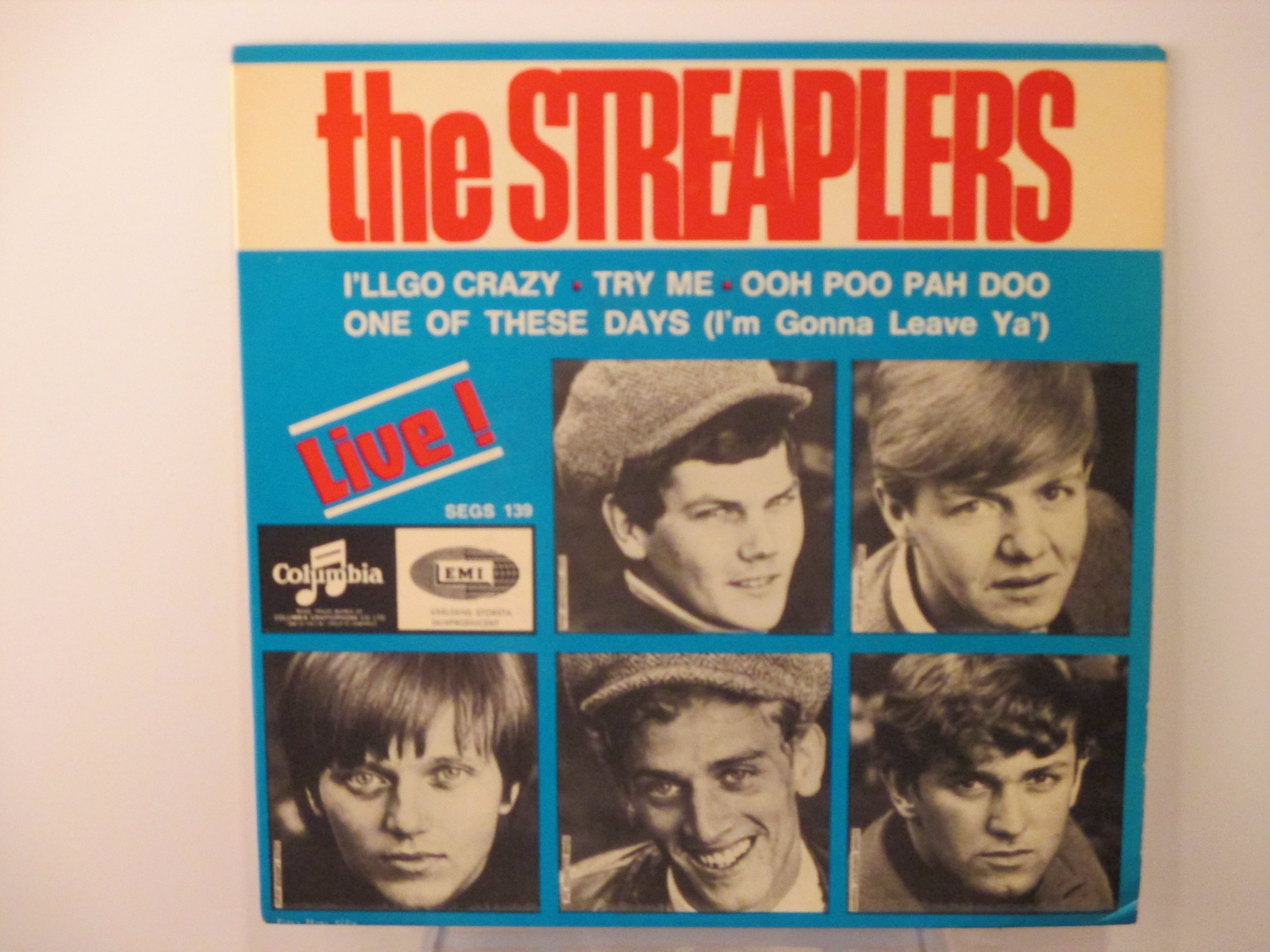 """STREAPLERS : (EP) """"Live""""   I'll go crazy / Try me / Ooh poo pah doo / One of these days"""