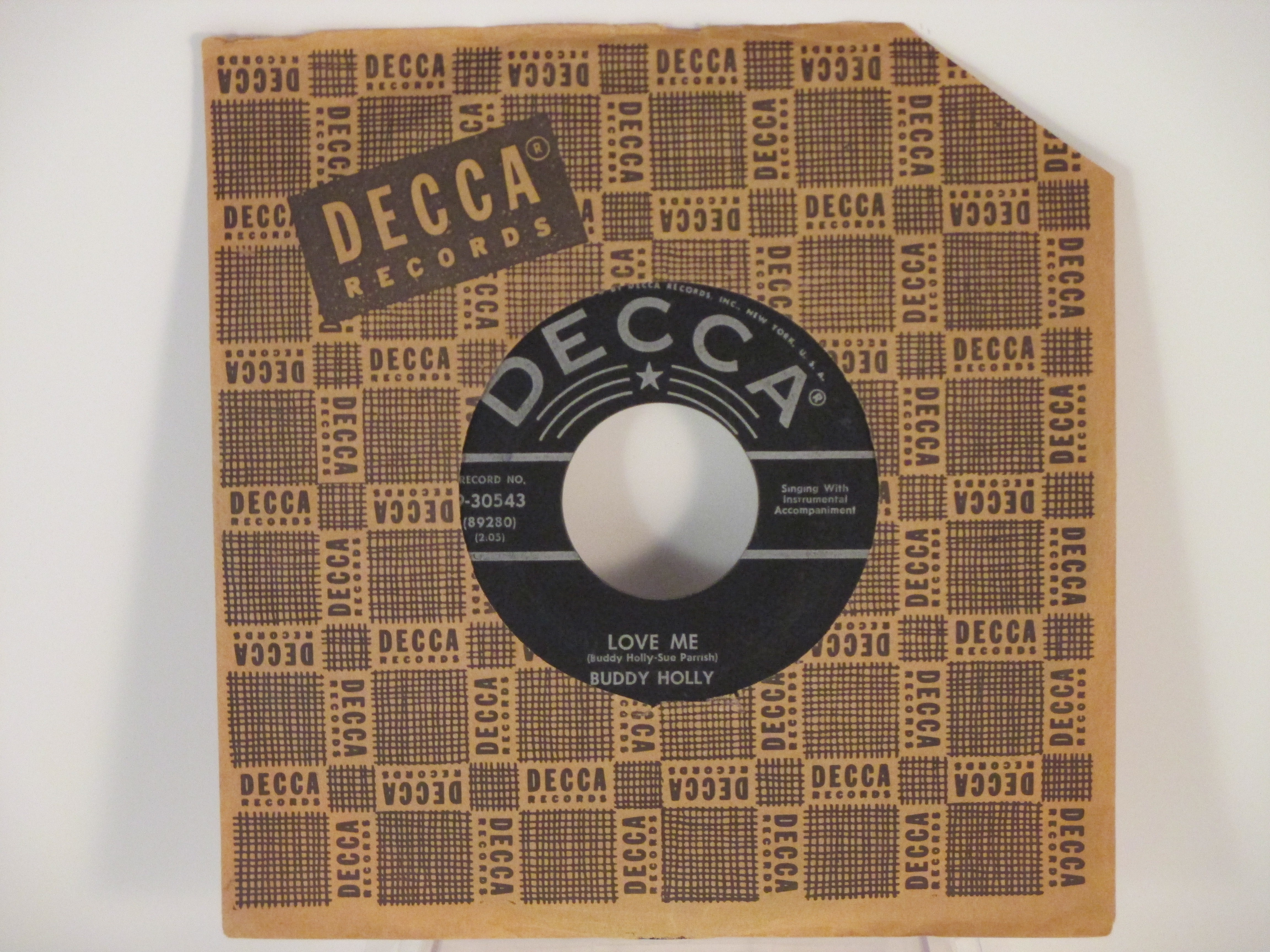 BUDDY HOLLY : Love me / You are my one desire