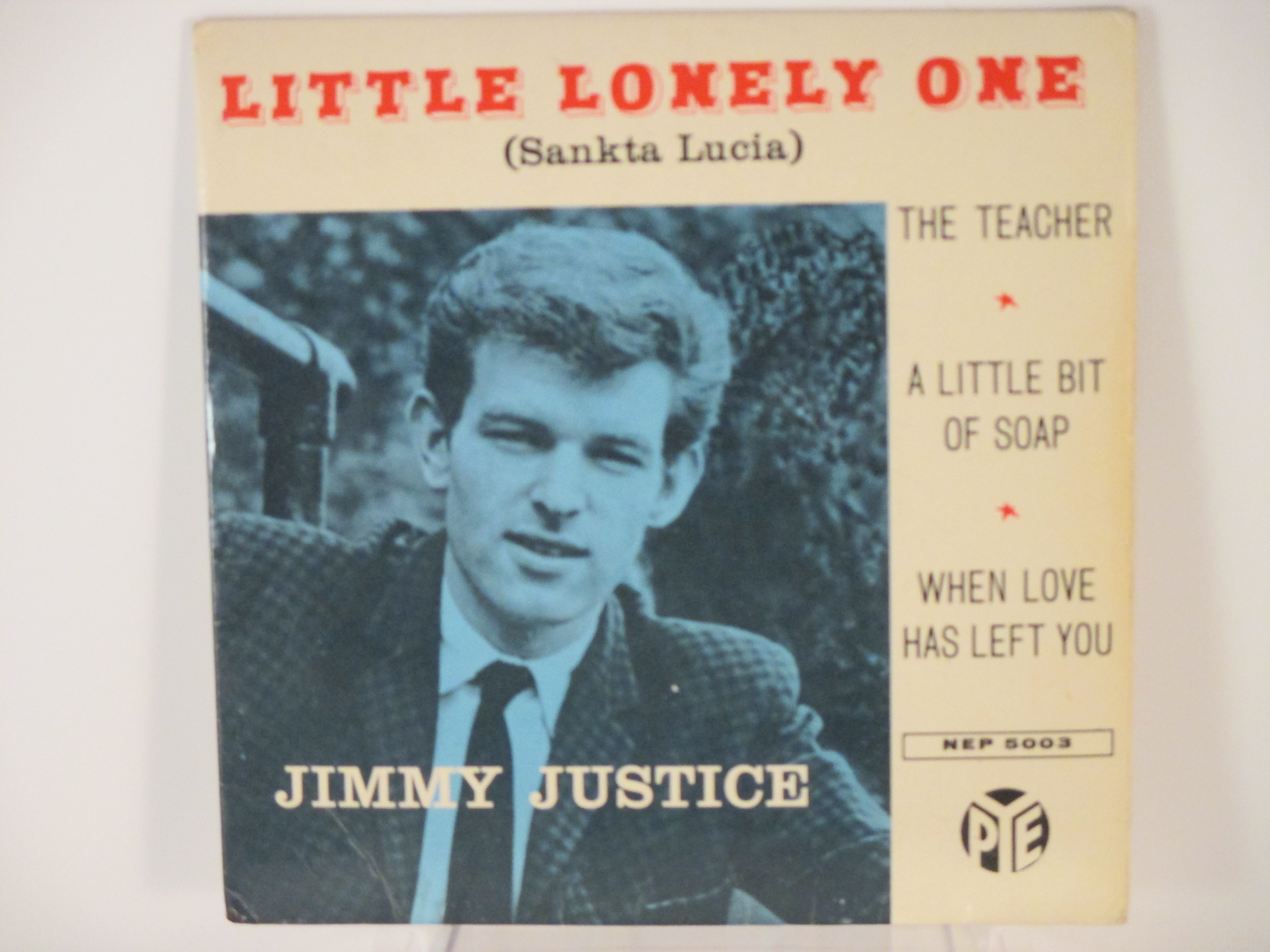 JIMMY JUSTICE : (EP) Little lonely one (Sankta Lucia) / The teacher / A little bit of soap / When love has left you