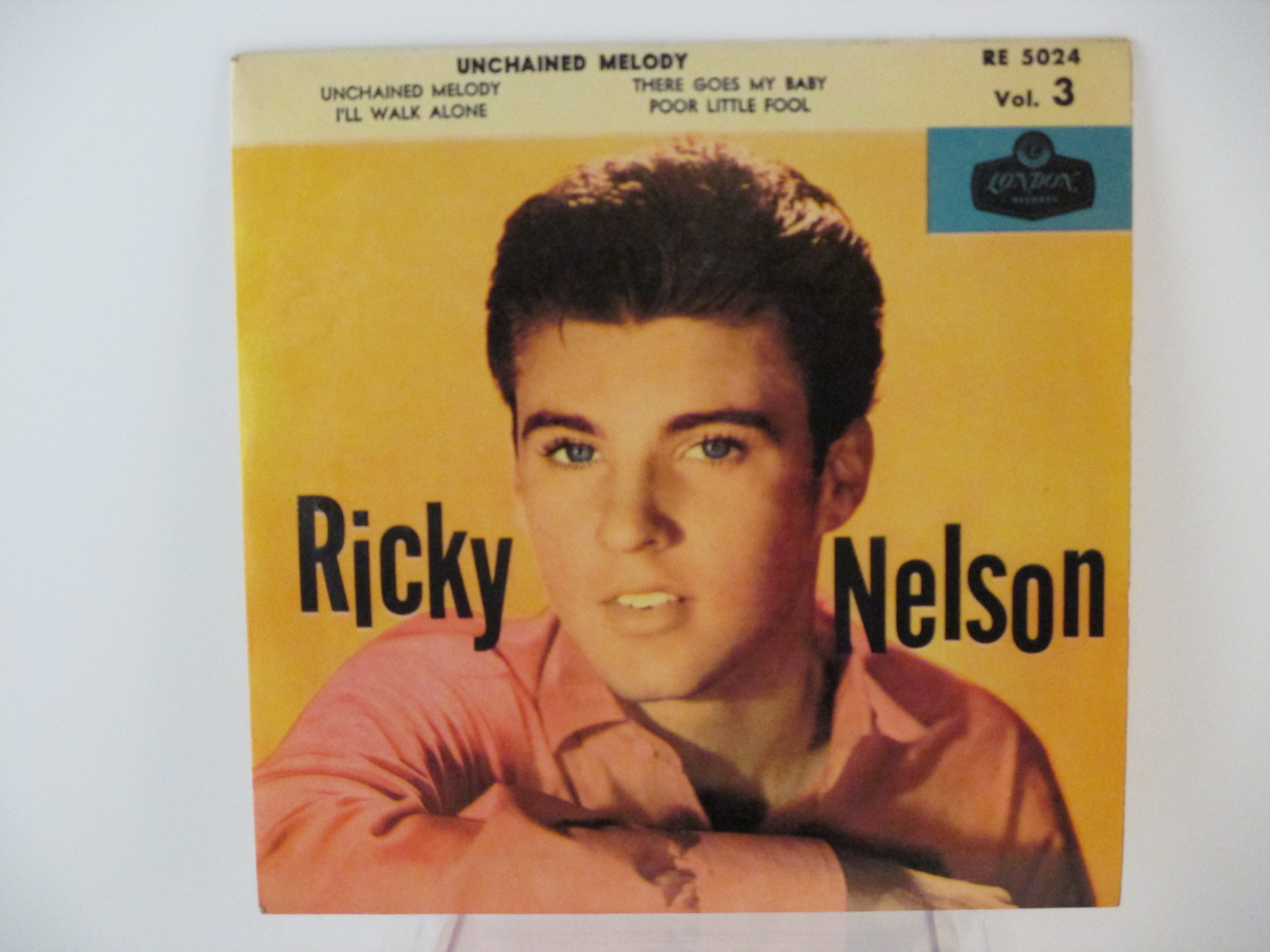 RICKY NELSON : (EP) Unchained melody / I'll walk alone / There goes my baby / Poor little fool