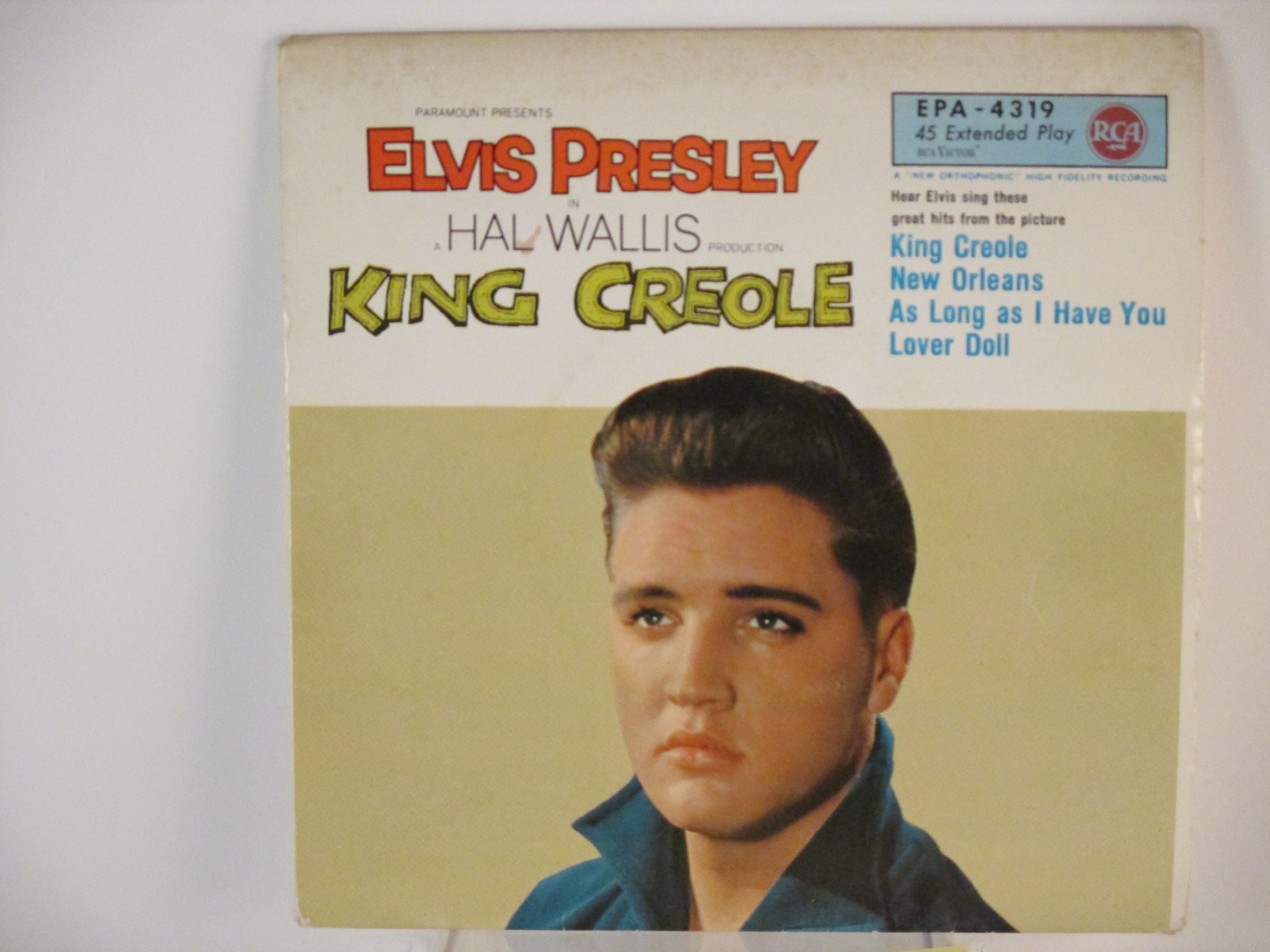 """ELVIS PRESLEY : (EP ) """"King Creole"""" : Title / New Orleans / As long as I have you / Lover doll"""