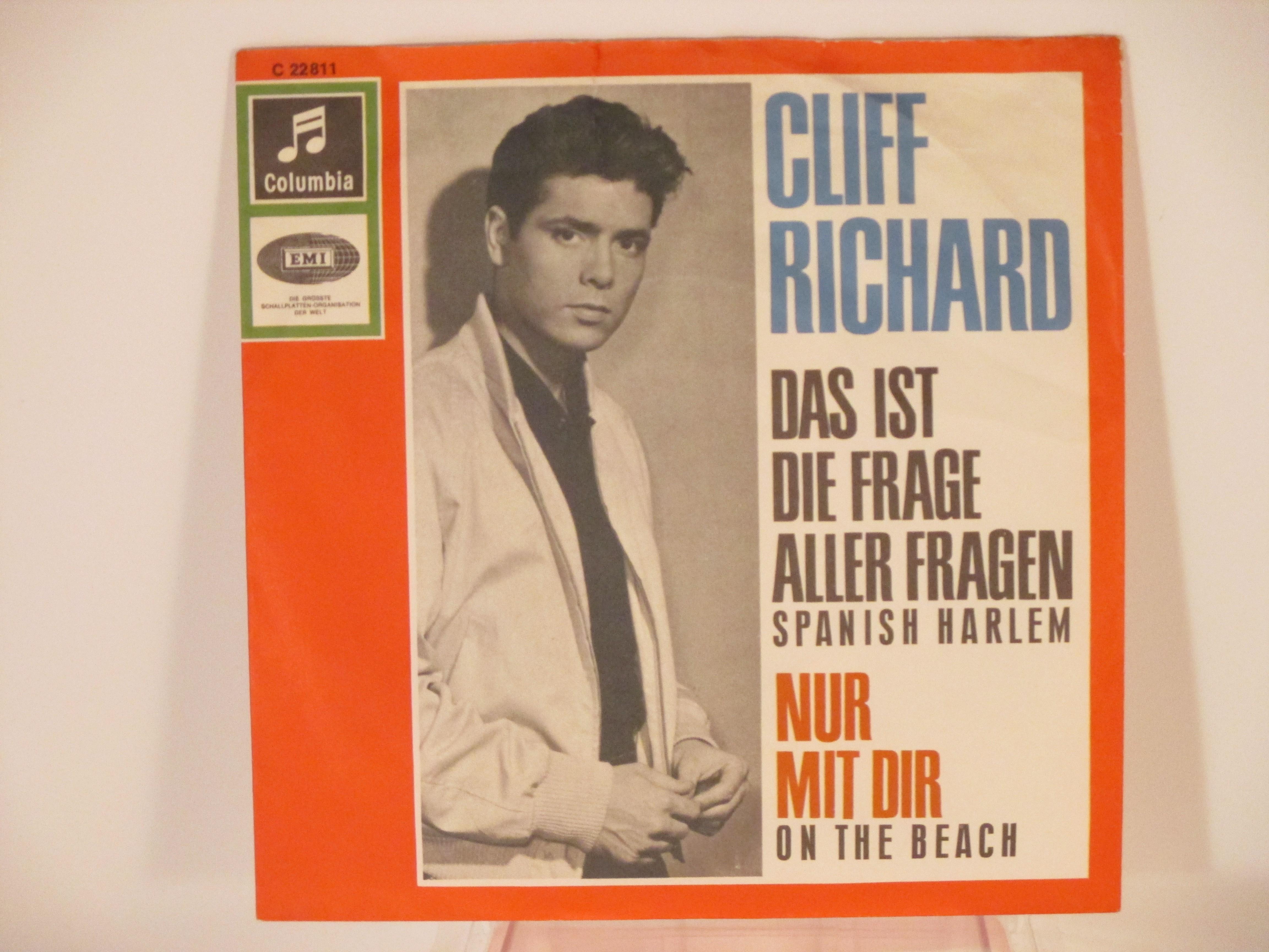 CLIFF RICHARD : Das ist die frage aller fragen (= Spanish harlem) / Nur mit dir (= On the beach)