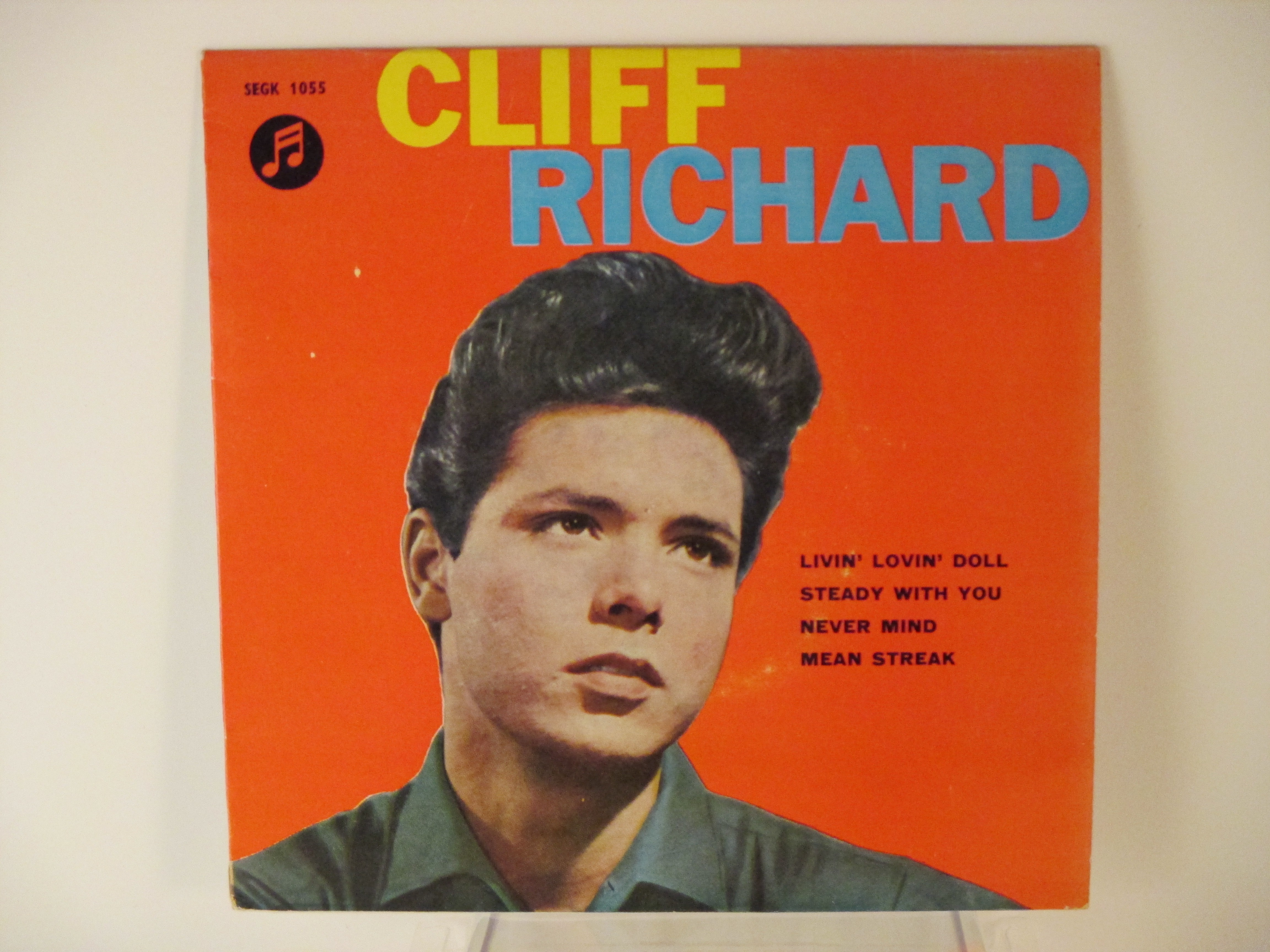 CLIFF RICHARD : (EP) Livin' lovin' doll / Steady with you / Never mind / Mean streak