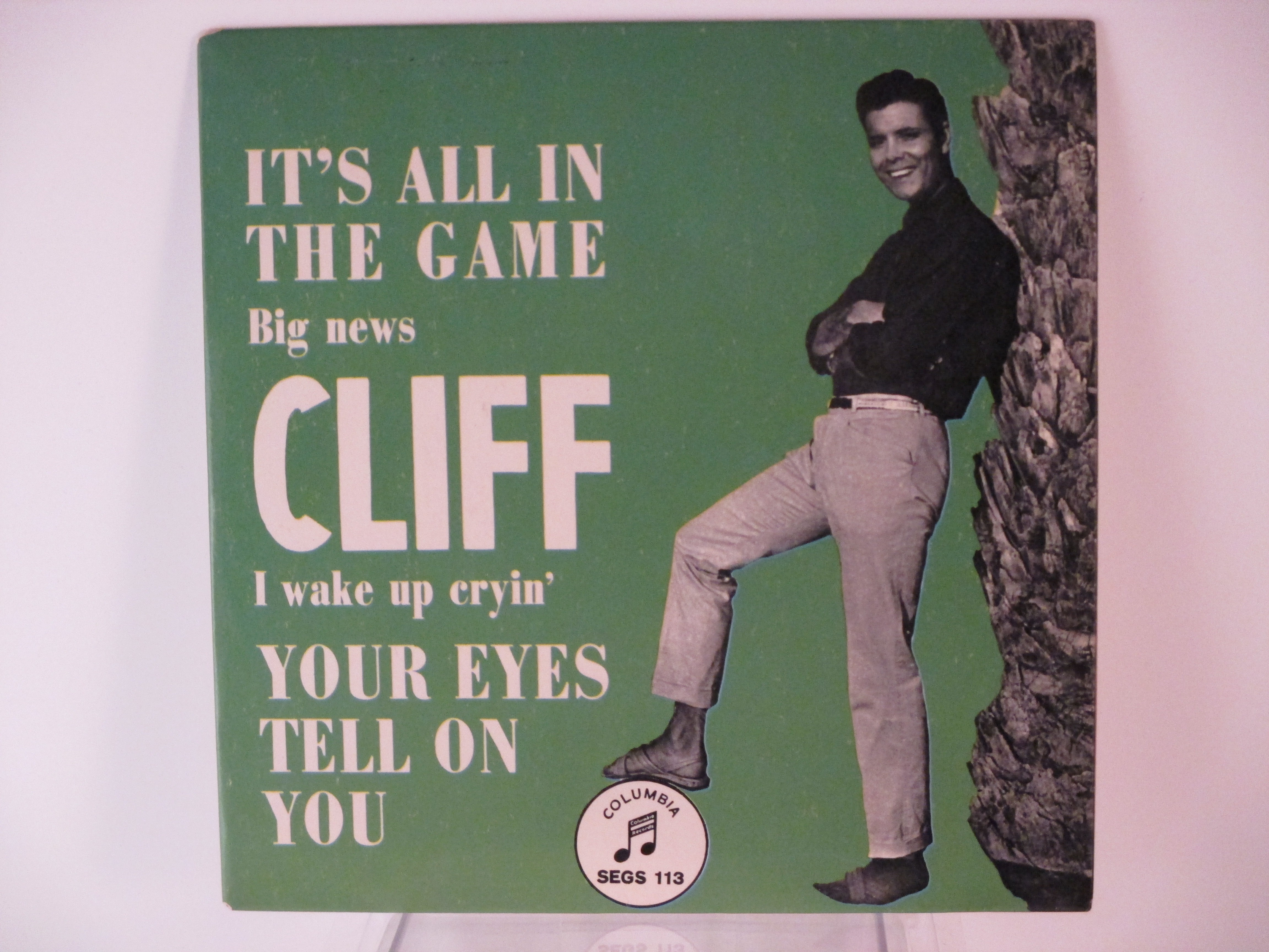 CLIFF RICHARD : (EP)  It's all in the game / Big news / Your eyes tell on you  / I wake up cryin'