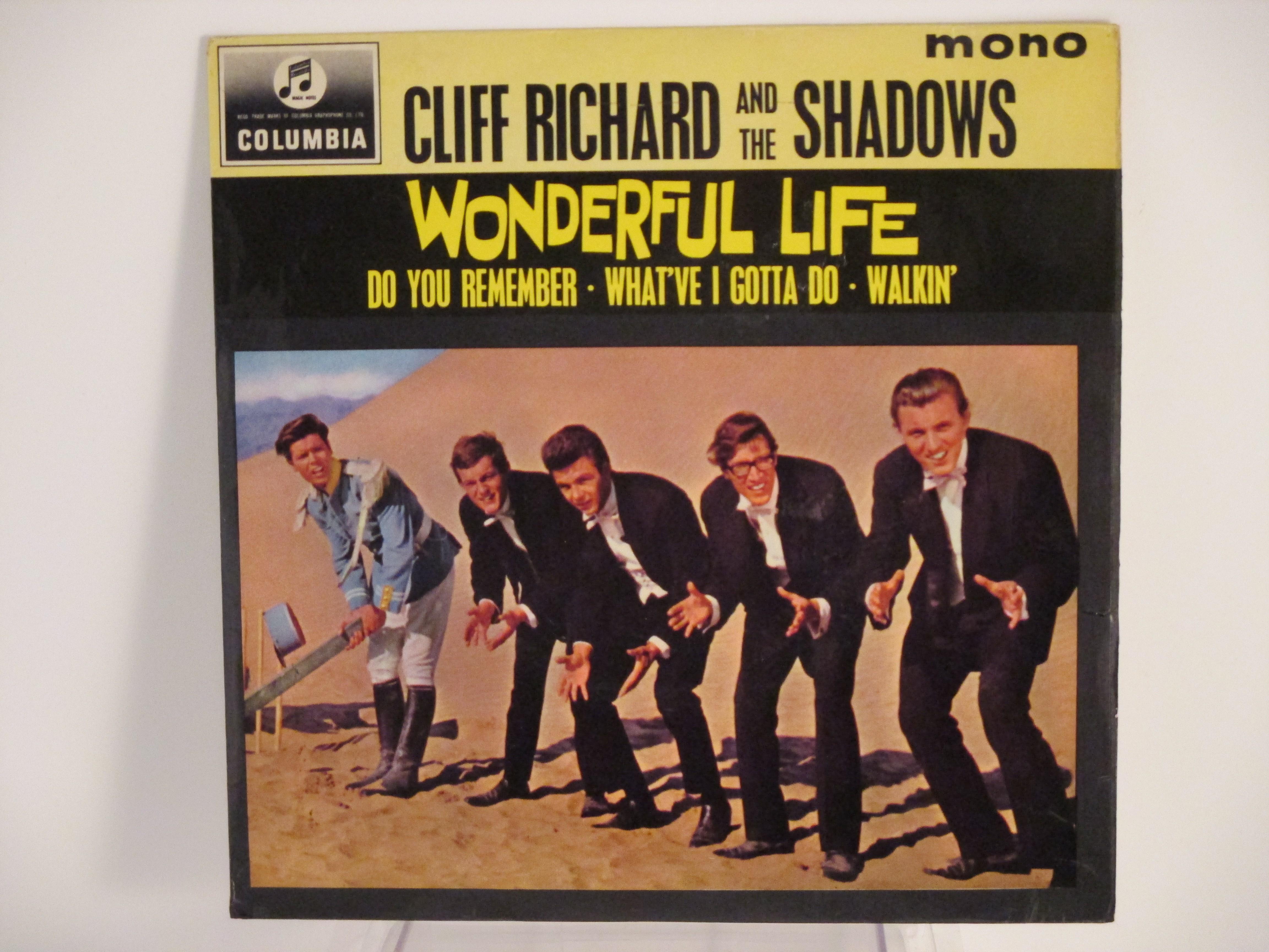 "CLIFF RICHARD : (EP) ""Wonderful life"" : Title / Do you remember / What've I gotta do / Walkin'"