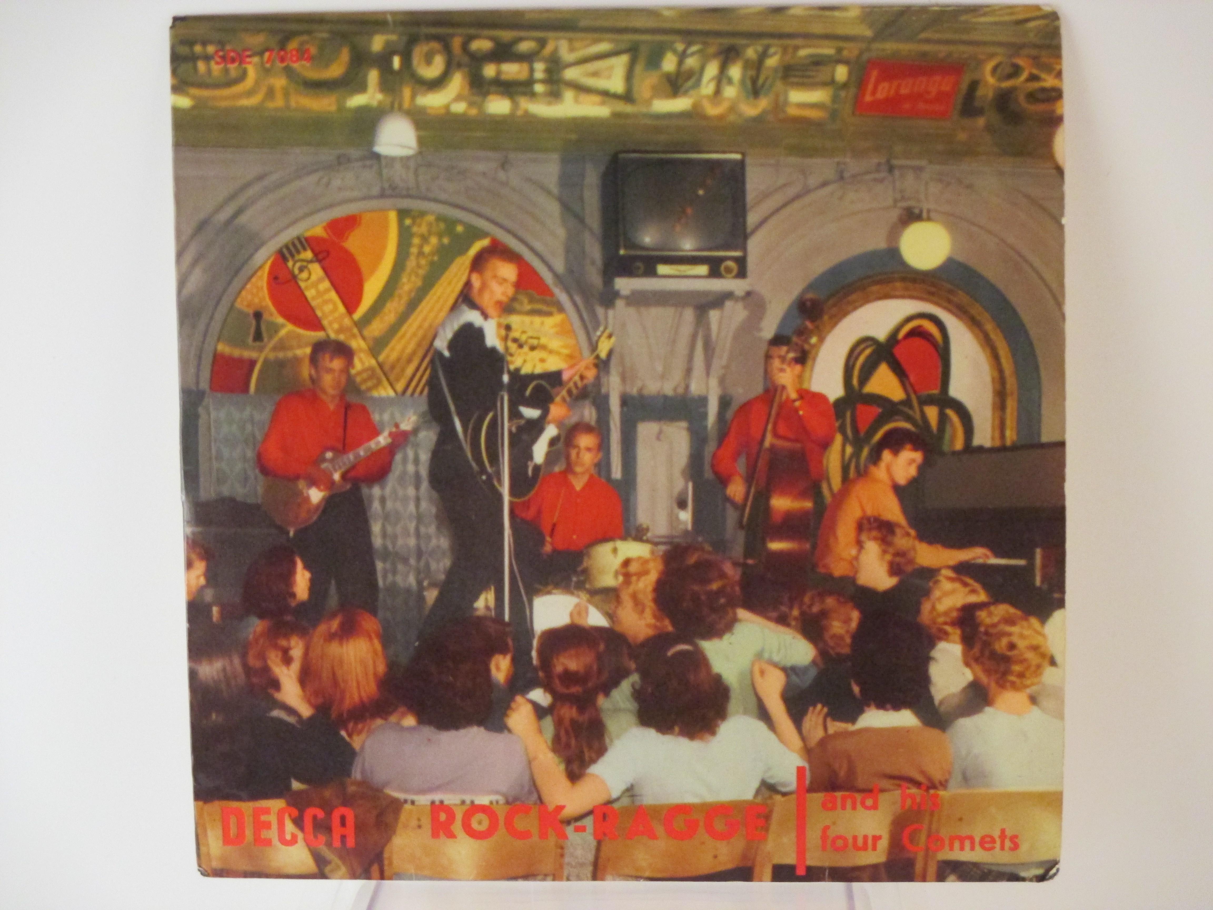 ROCK-RAGGE : (EP) Teach you to rock / Be-bop-a-lula / Bluejean bop / Ball-room baby
