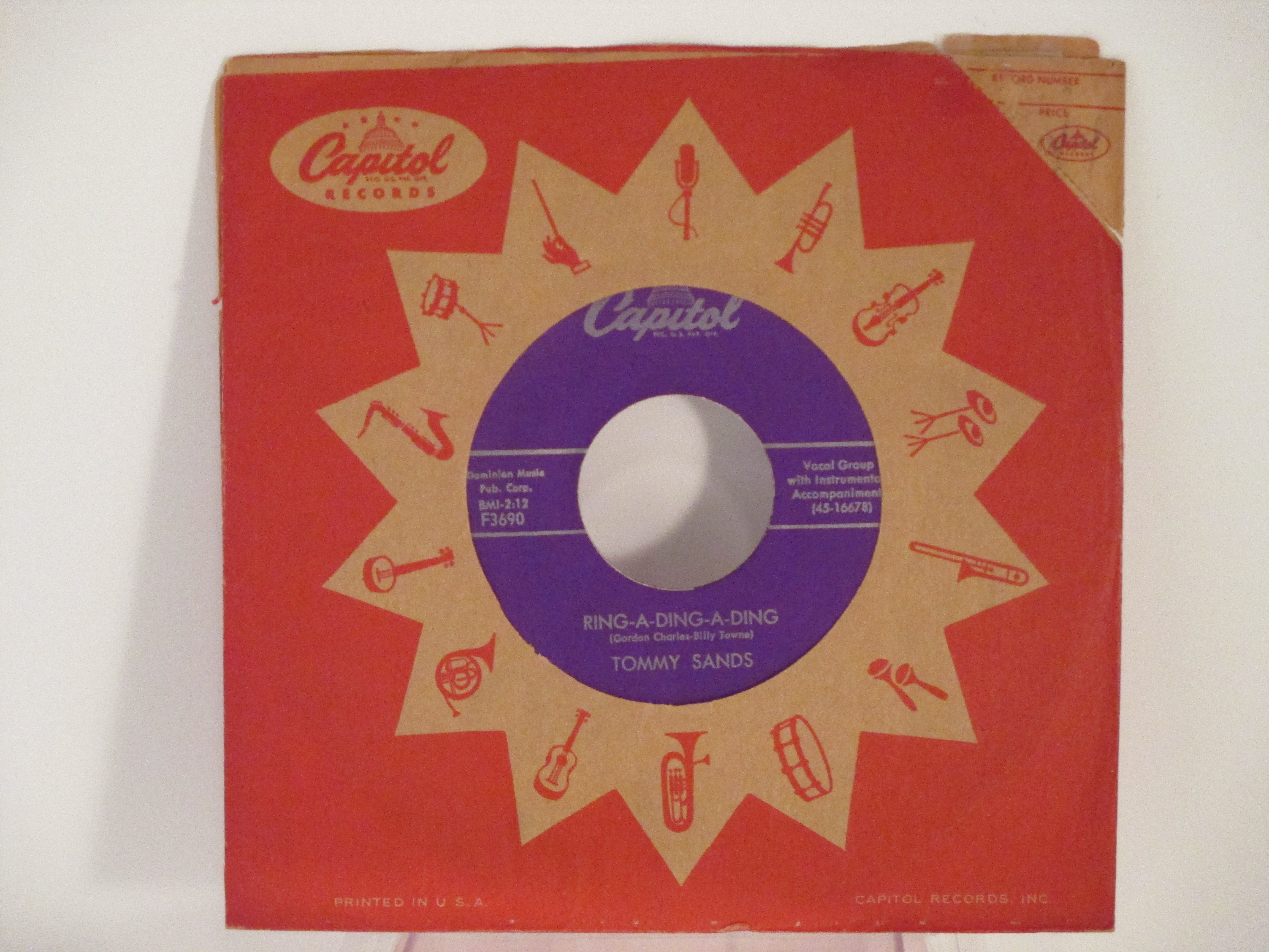 TOMMY SANDS : Ring-a-ding-a-ding / My love song