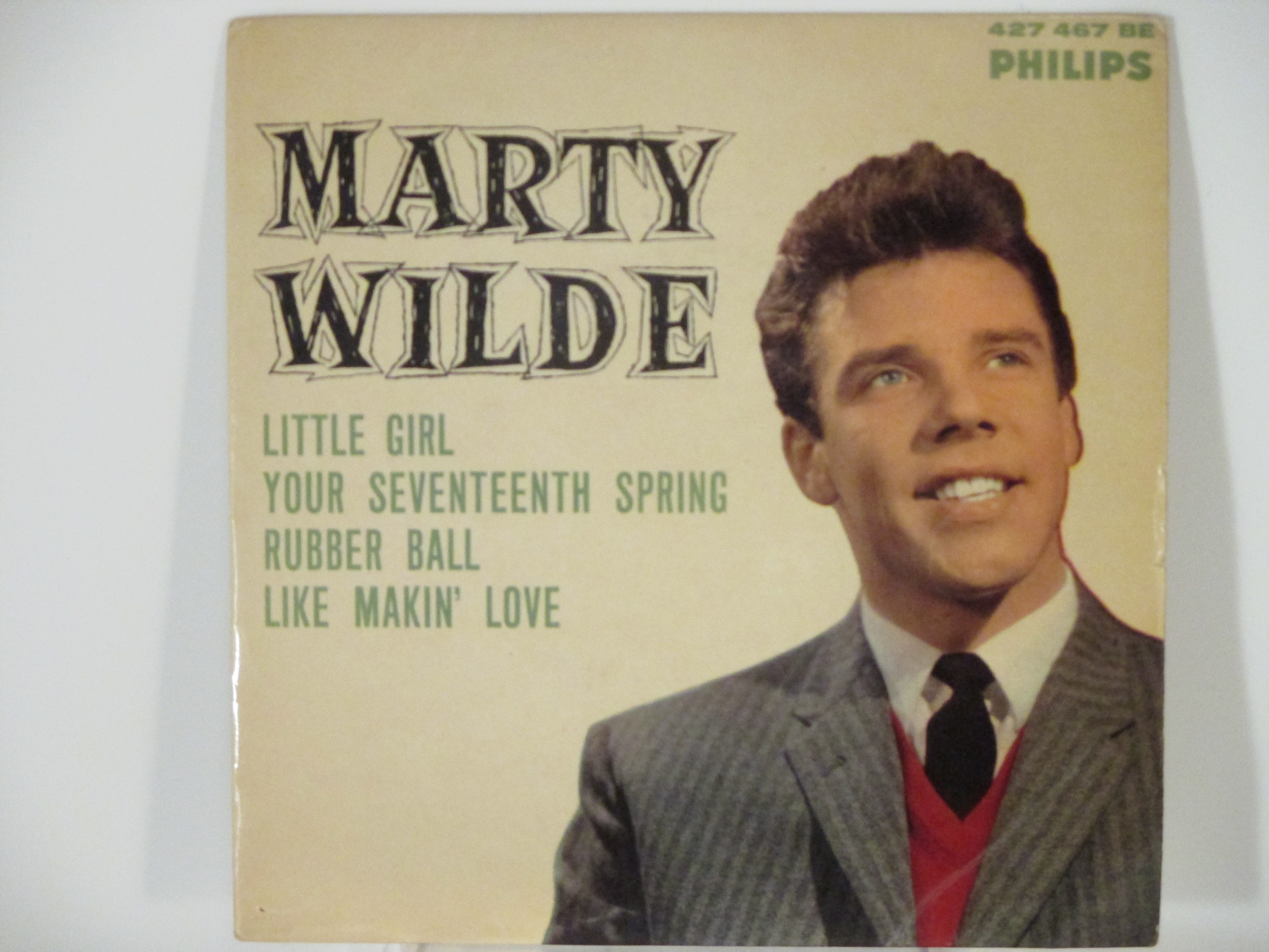MARTY WILDE : (EP) Little girl / Your seventeenth spring / Rubber ball / Like makin' love