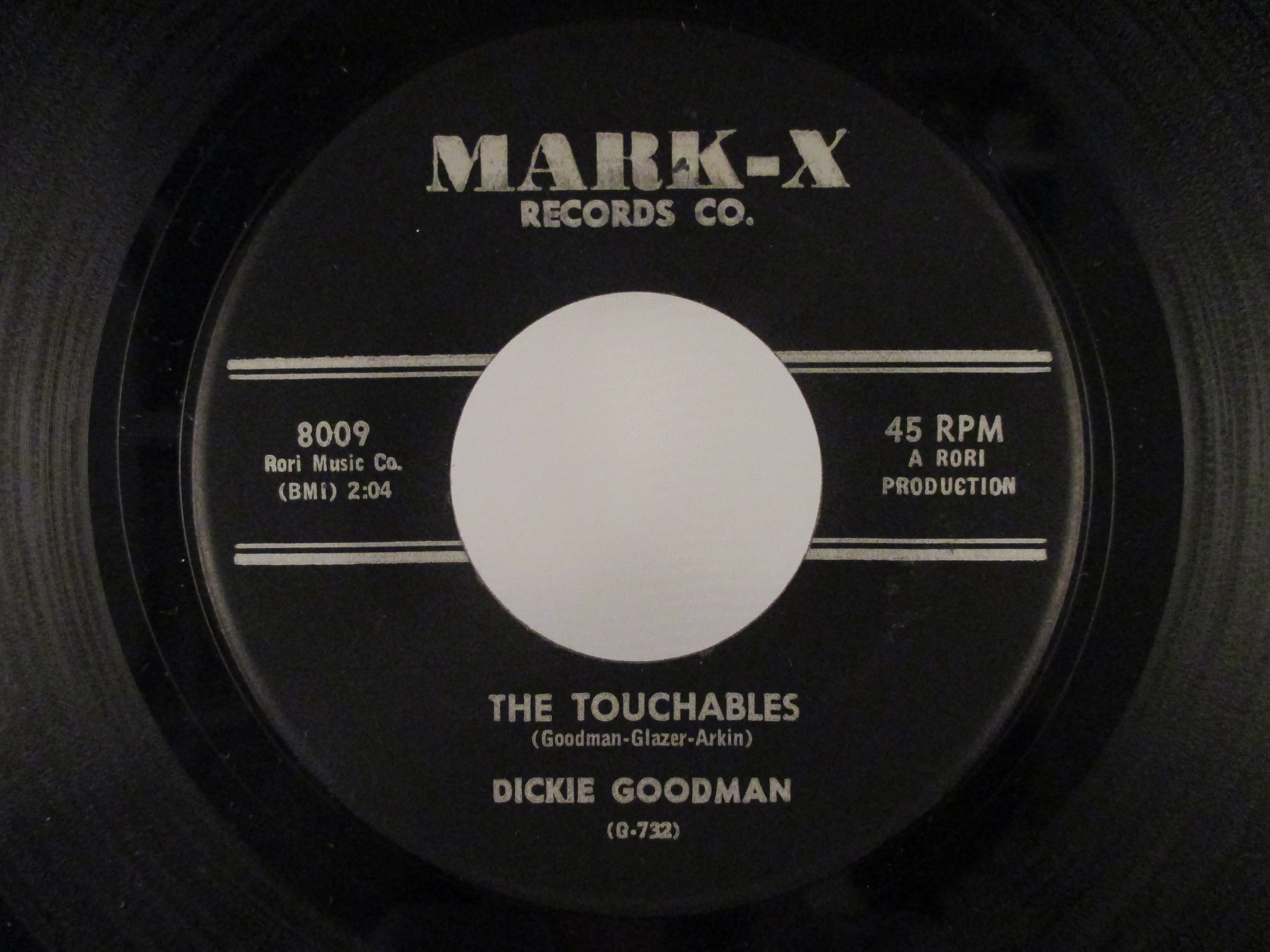 DICKIE GOODMAN : The touchables /  Martian melody