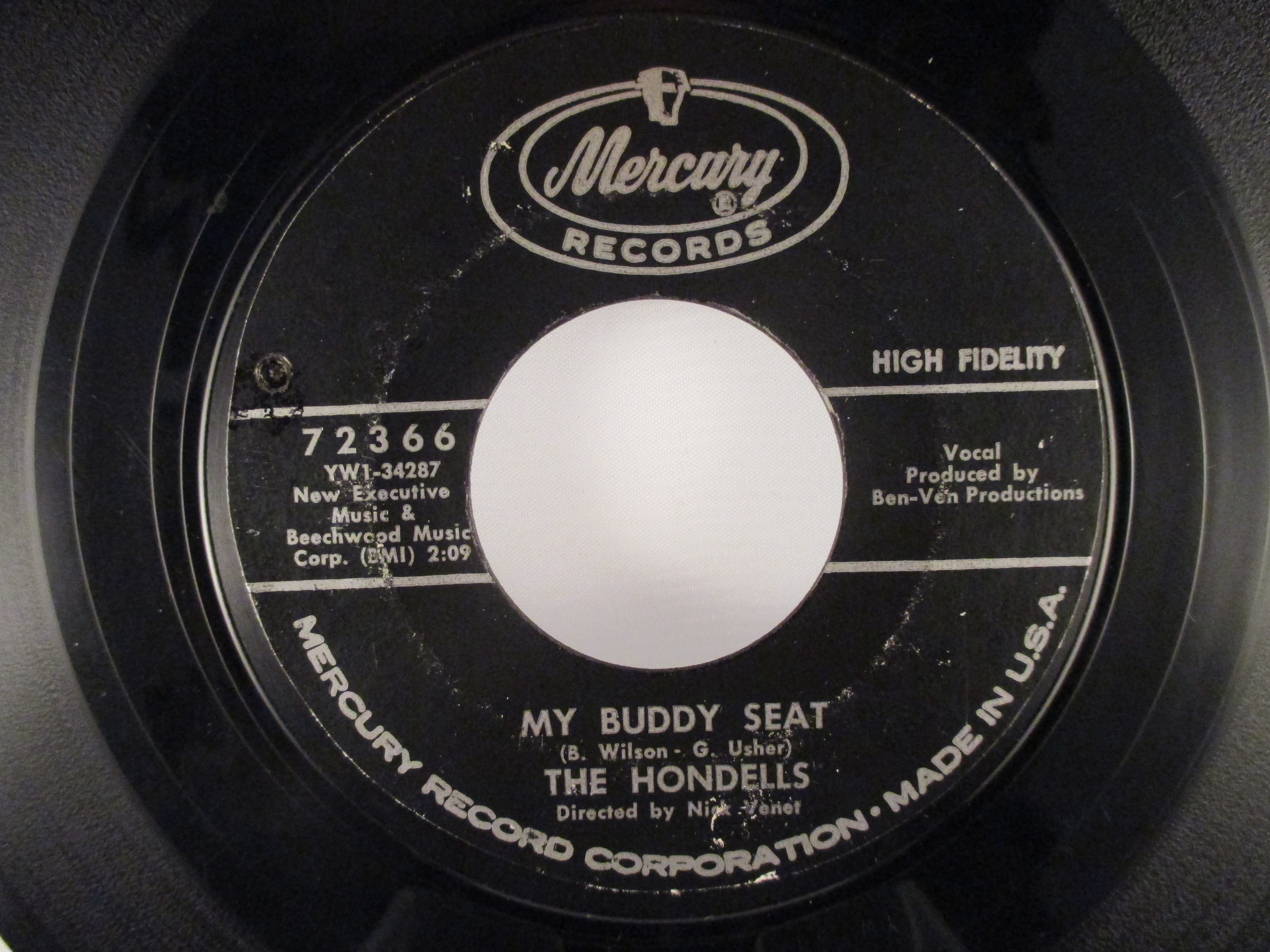 HONDELLS : My buddy seat / You're gonna' ride with me