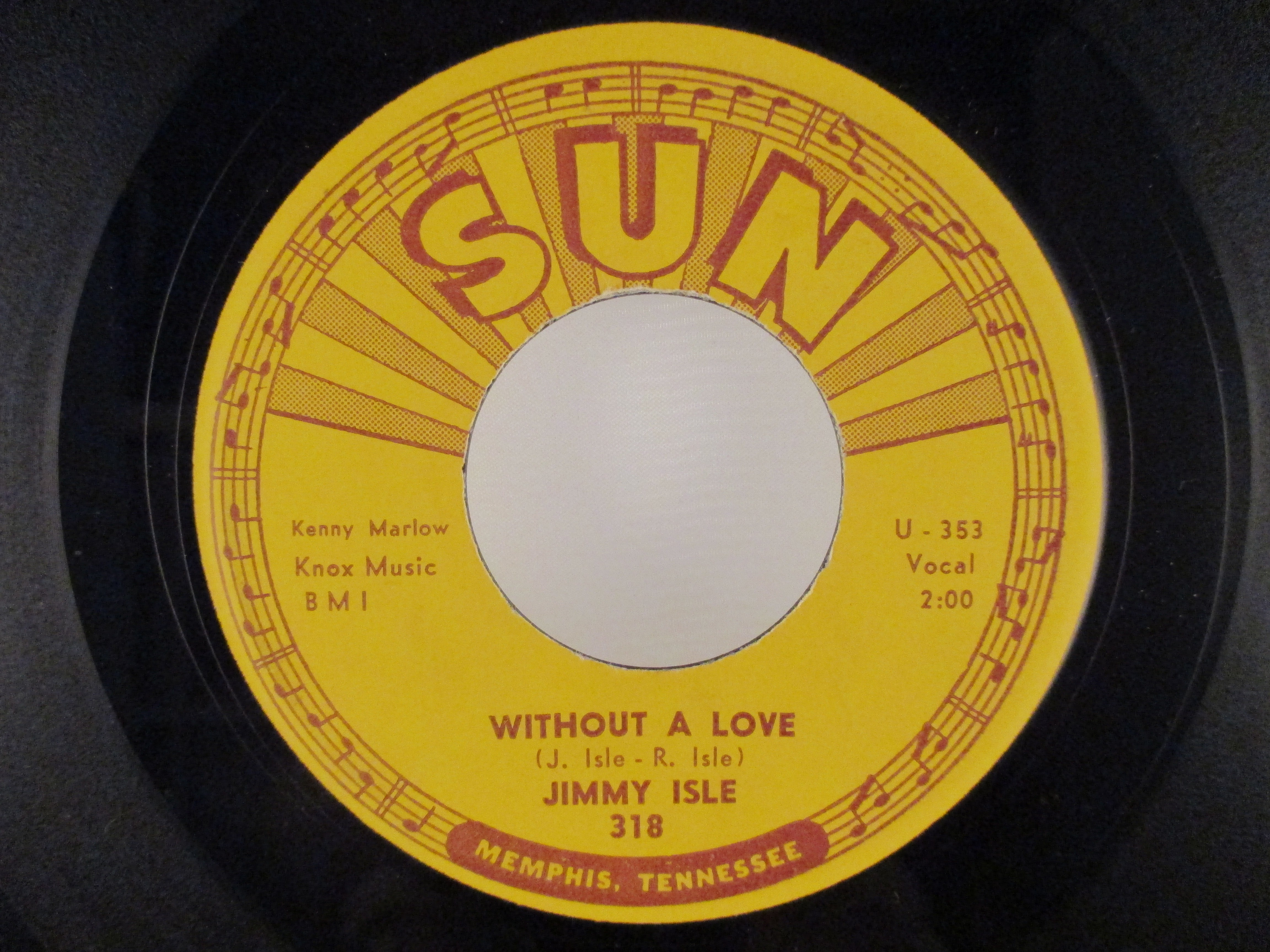 JIMMY ISLE : Without a love / Time will tell