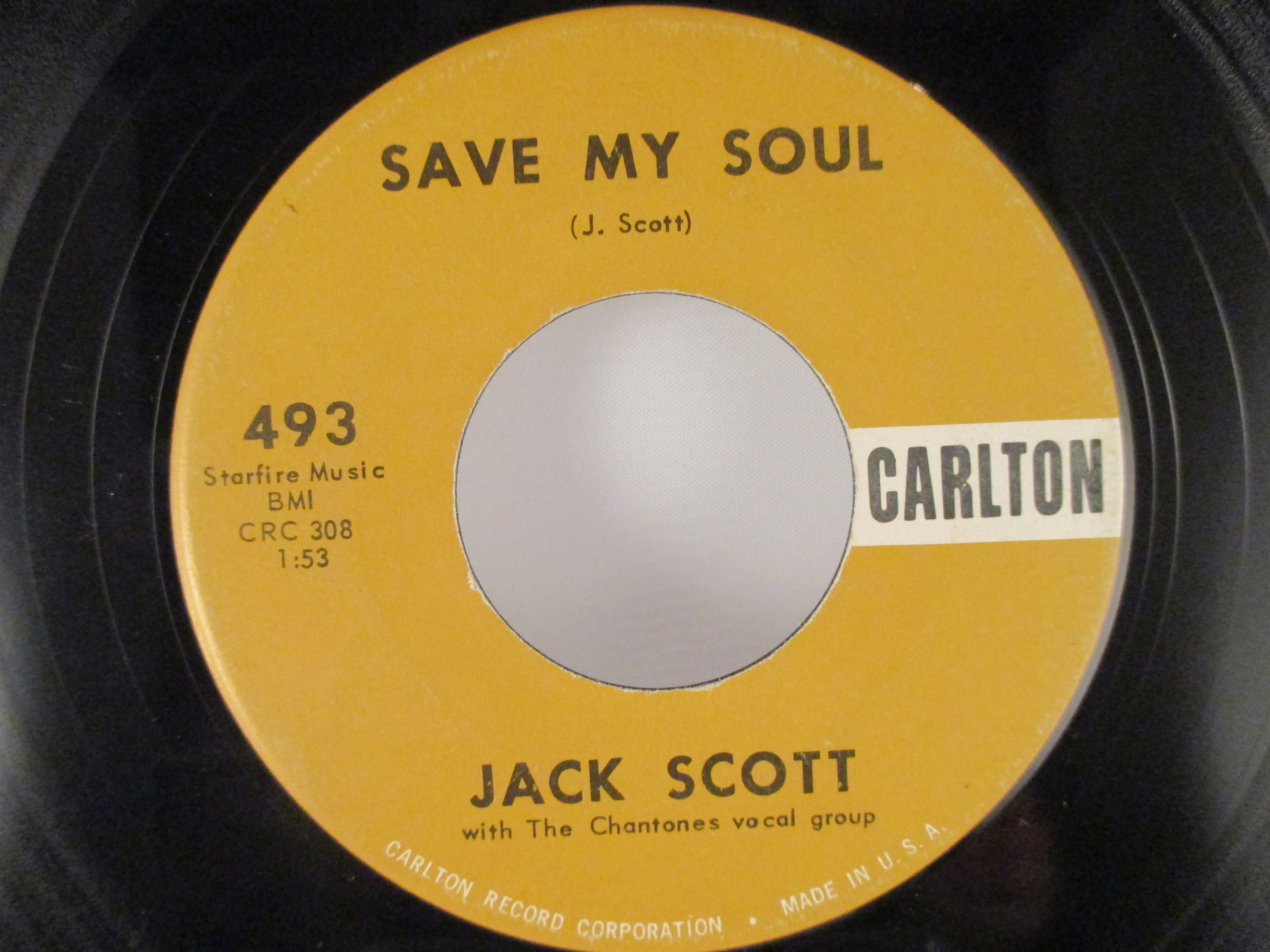 JACK SCOTT : Save my soul / Goodbye baby