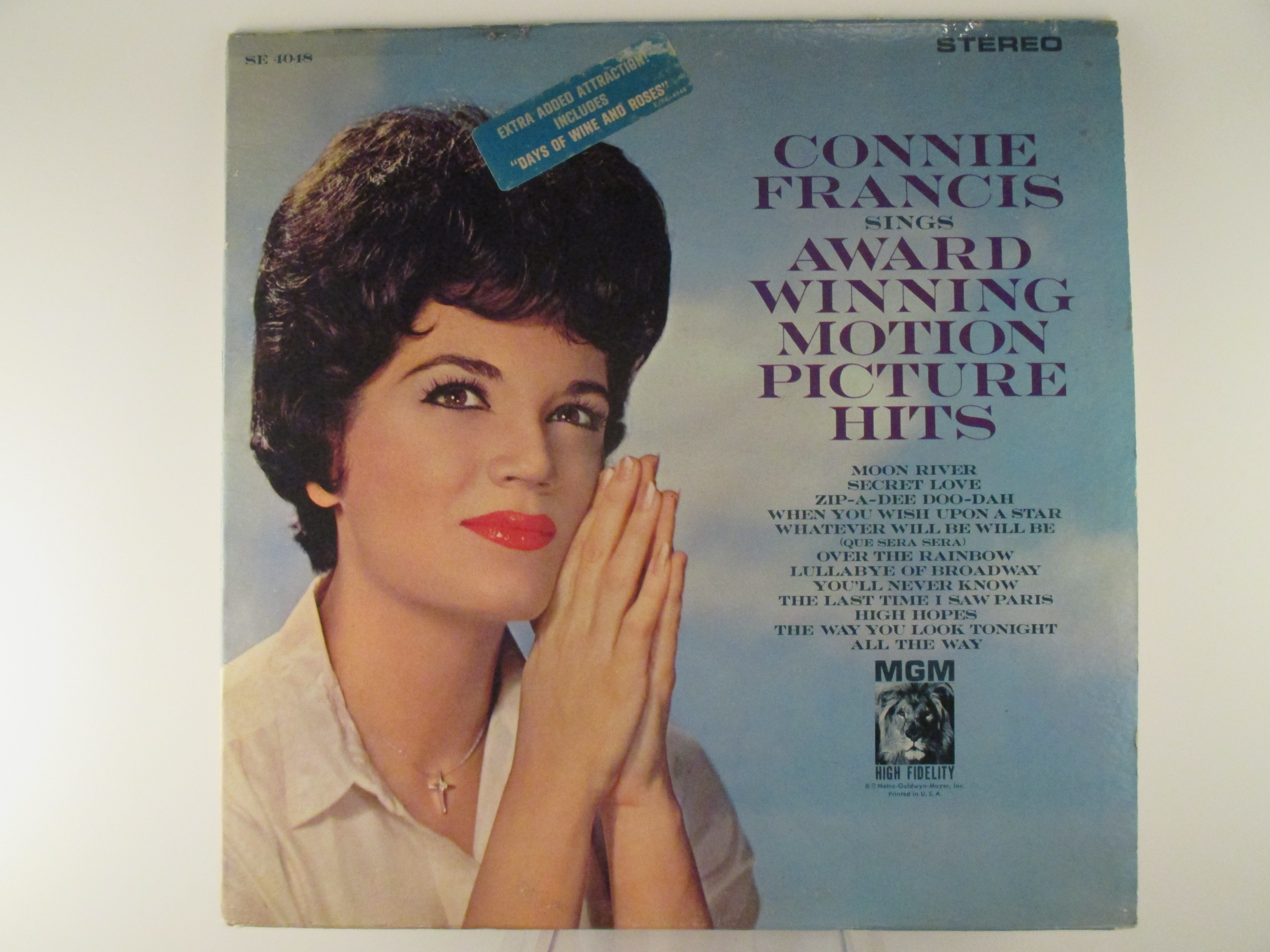 "CONNIE FRANCIS : ""Connie Francis sings award winning motion picture hits"""