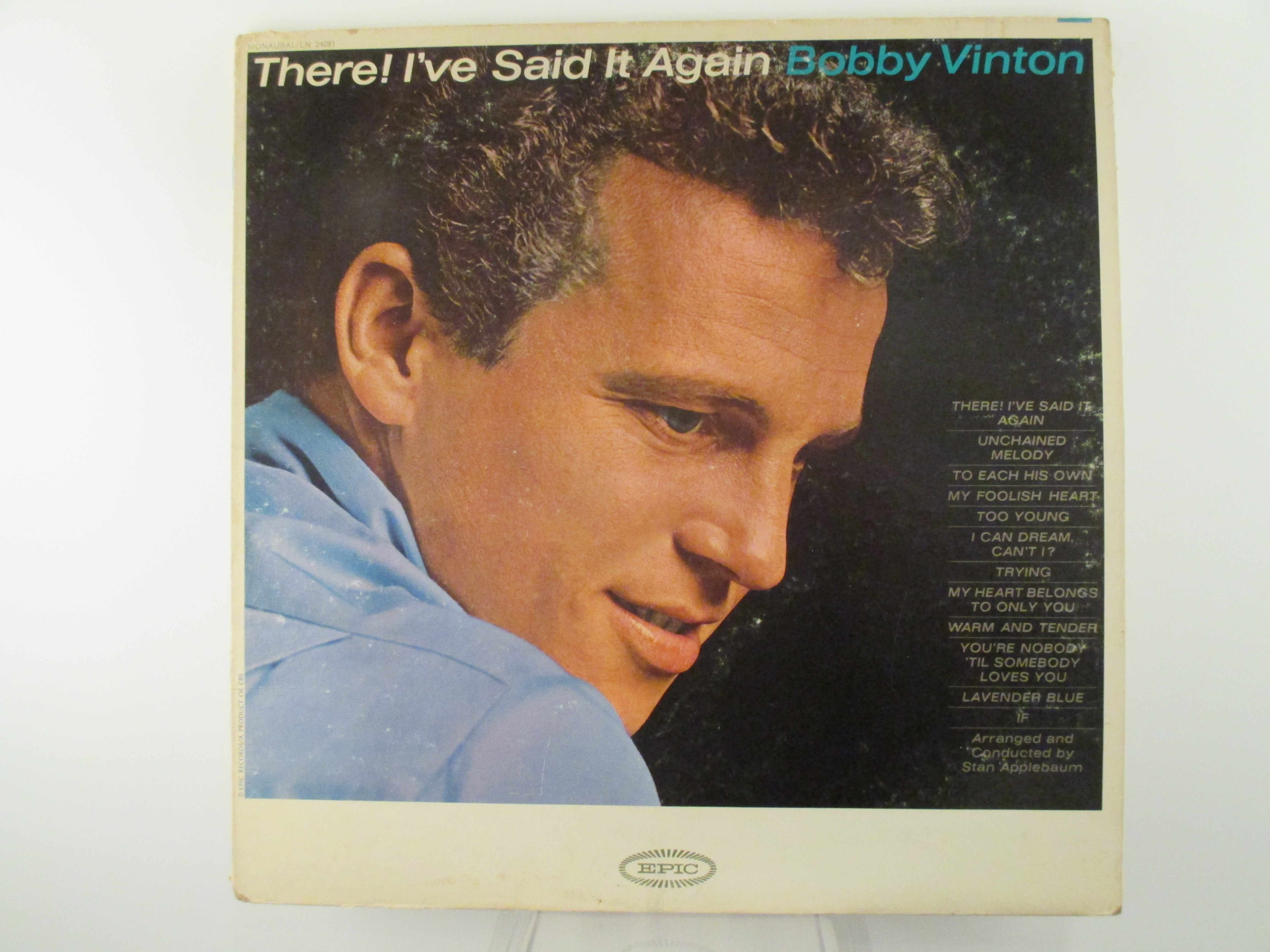 "BOBBY VINTON : ""There I've said it again"""