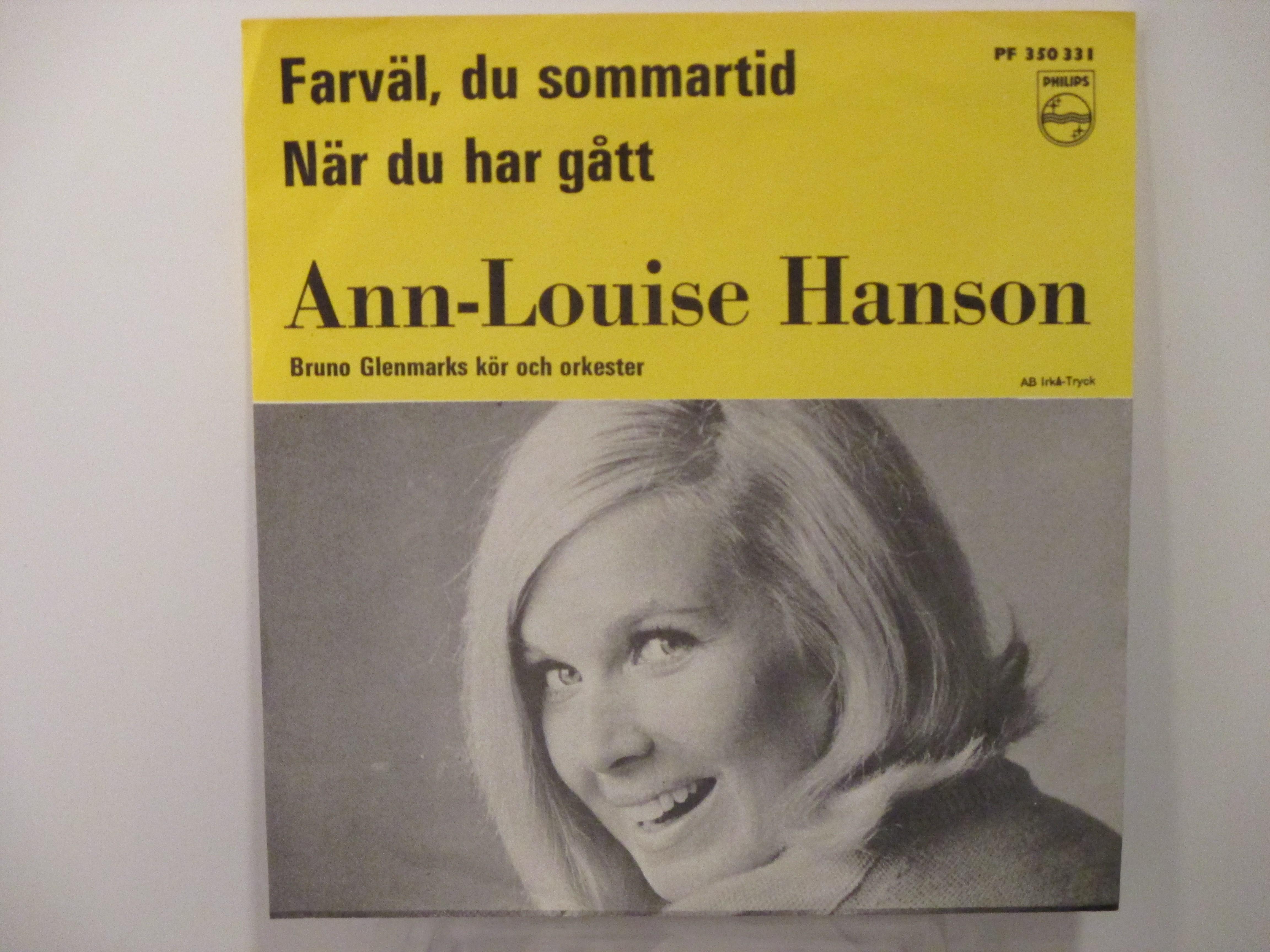 ANN-LOUISE HANSON : Farväl, du sommartid / När du har gått