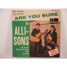 ALLISONS : (EP) Are you sure / There's one thing more / Words / Blue tears